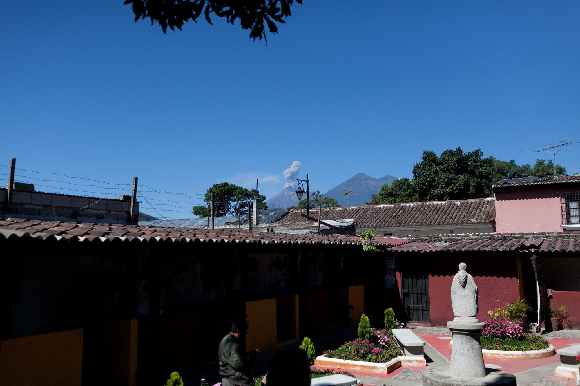 Active volcano in Antigua, Guatemala