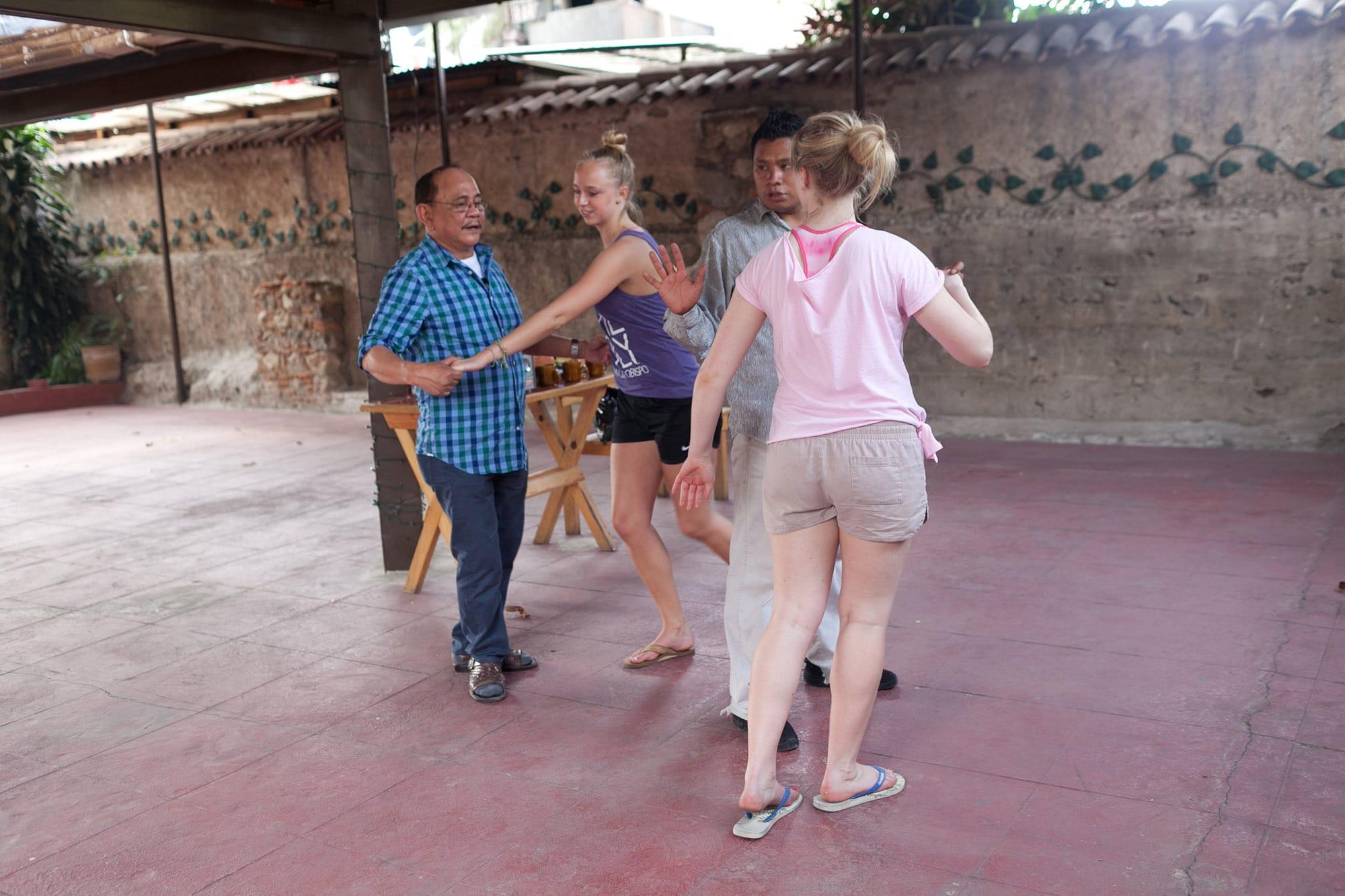 Salsa dancing in Antigua, Guatemala