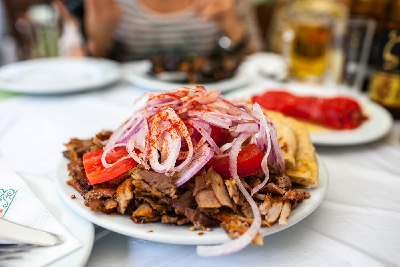 Pork Gyro in Athens, Greece