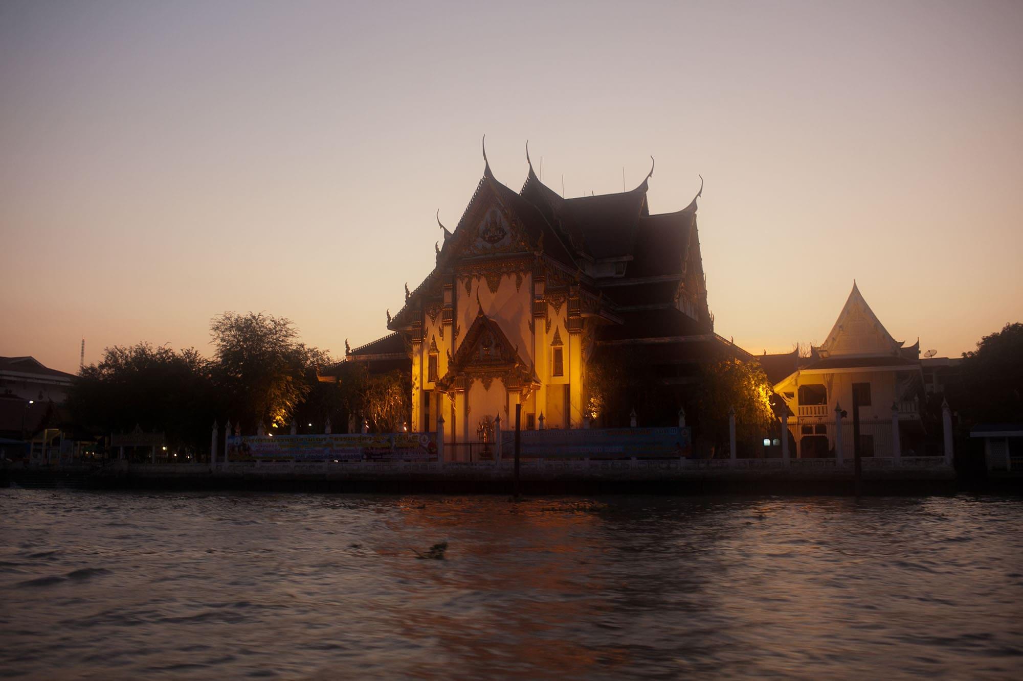 Boat ride down the river in Bangkok, Thailand