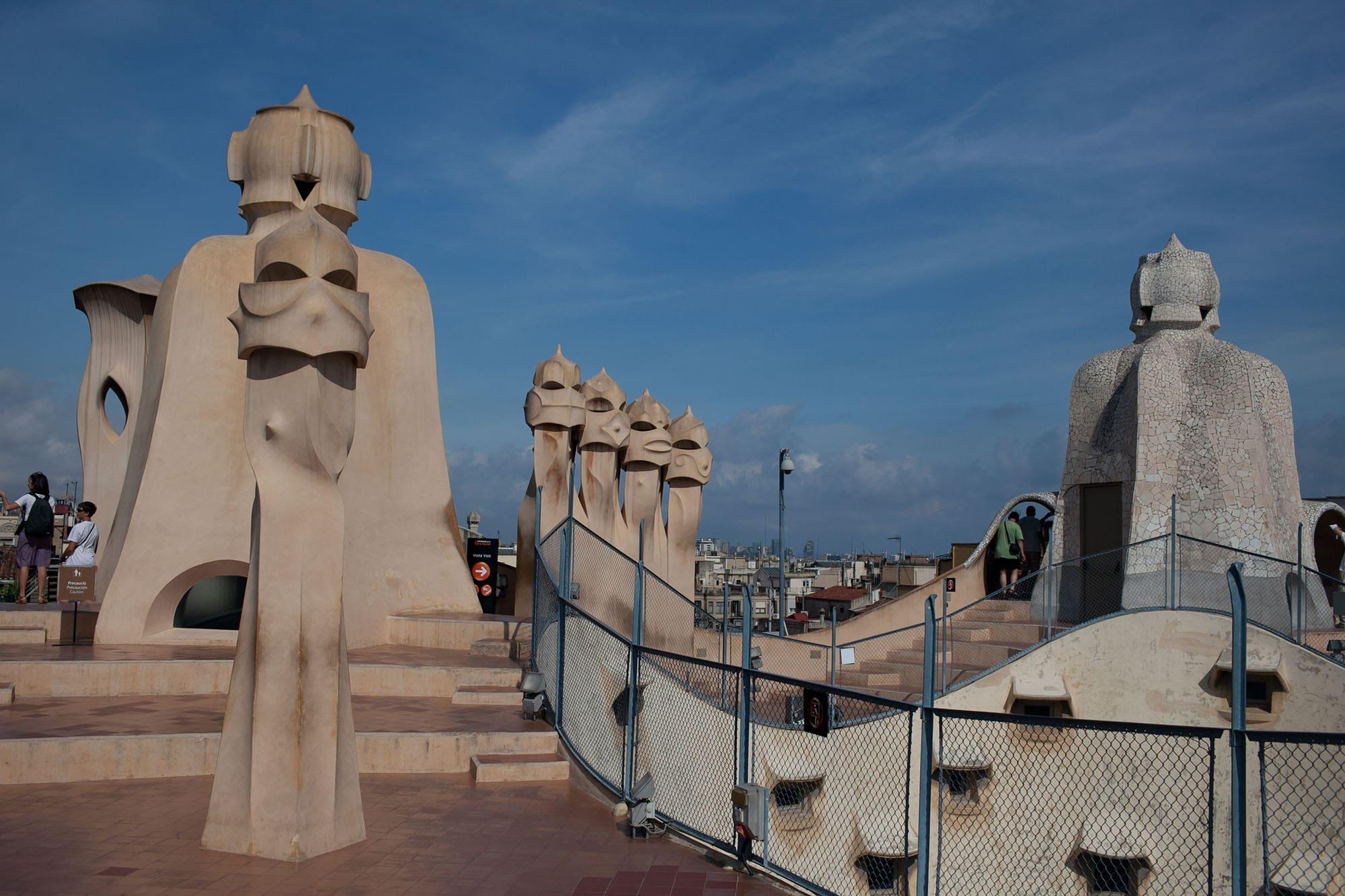 Gaudi's Casa Mila - La Pedrera - in Barcelona, Spain
