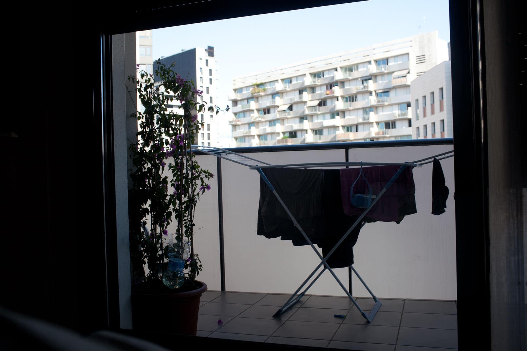 Doing my laundry in Barcelona, Spain