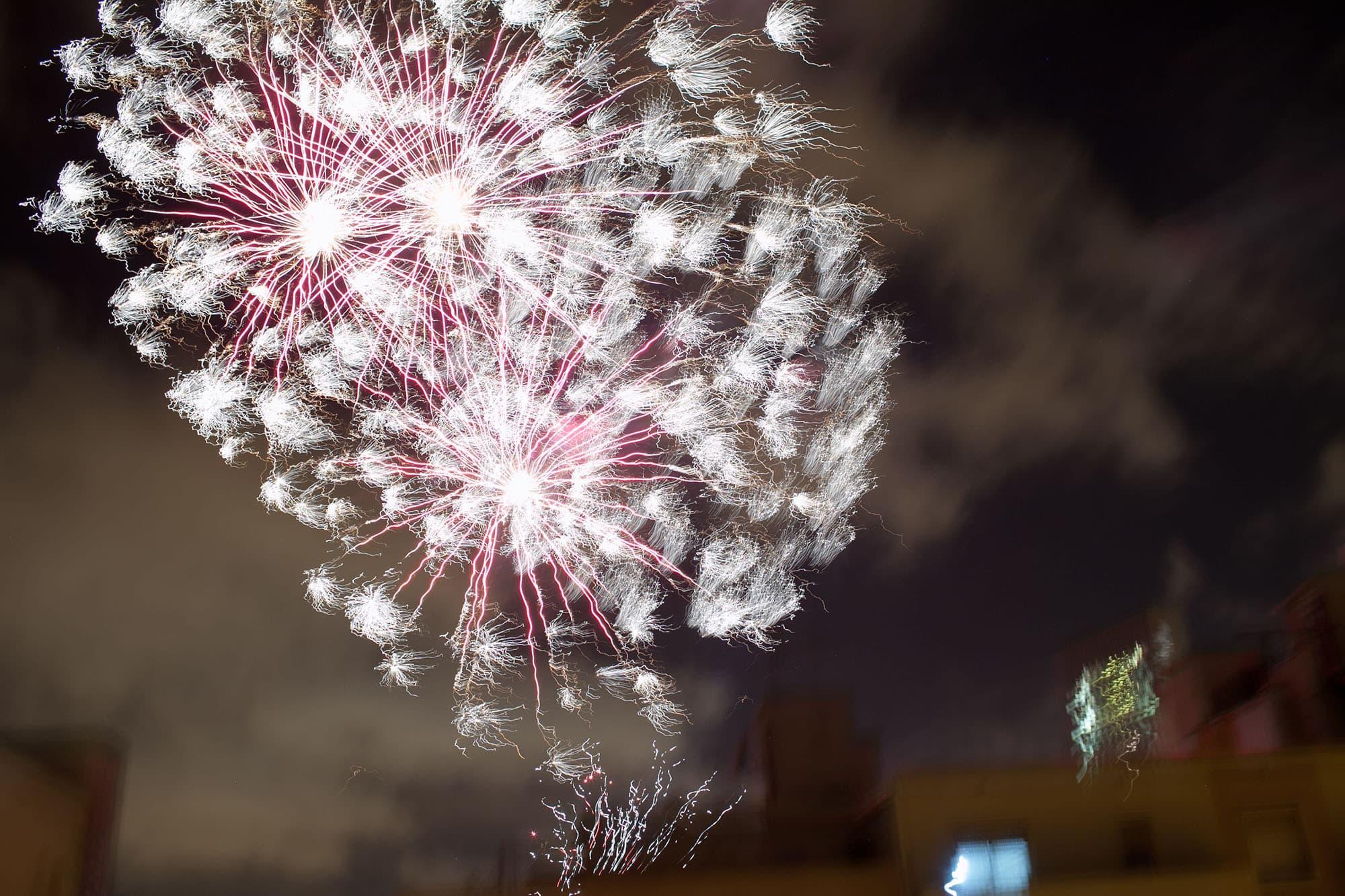 Fireworks in Barcelona, Spain.