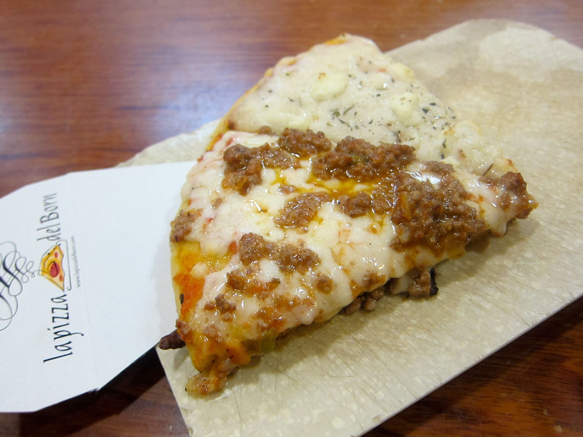 La Pizza Del Born in Barcelona, Spain.