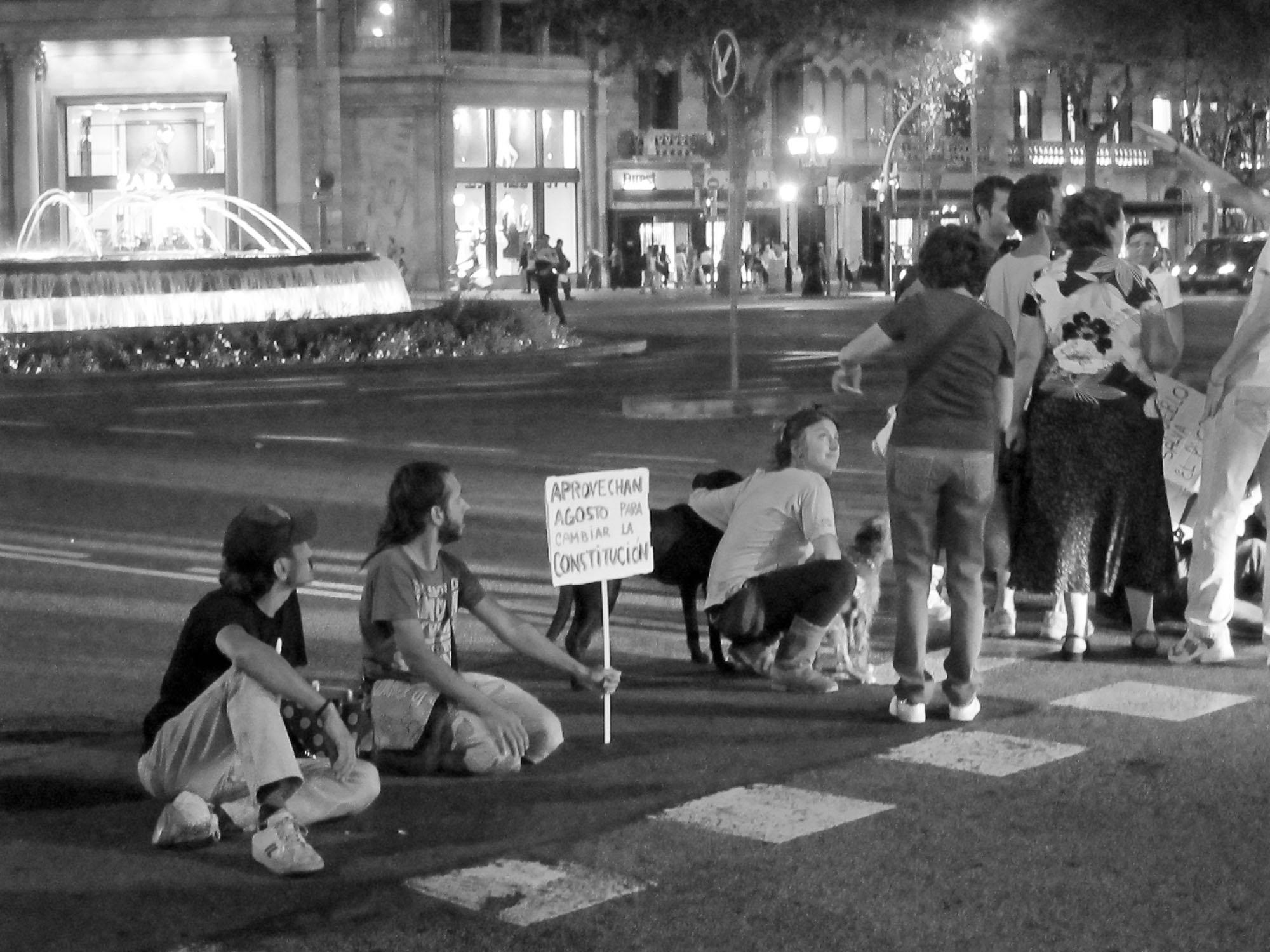 Protest in Barcelona