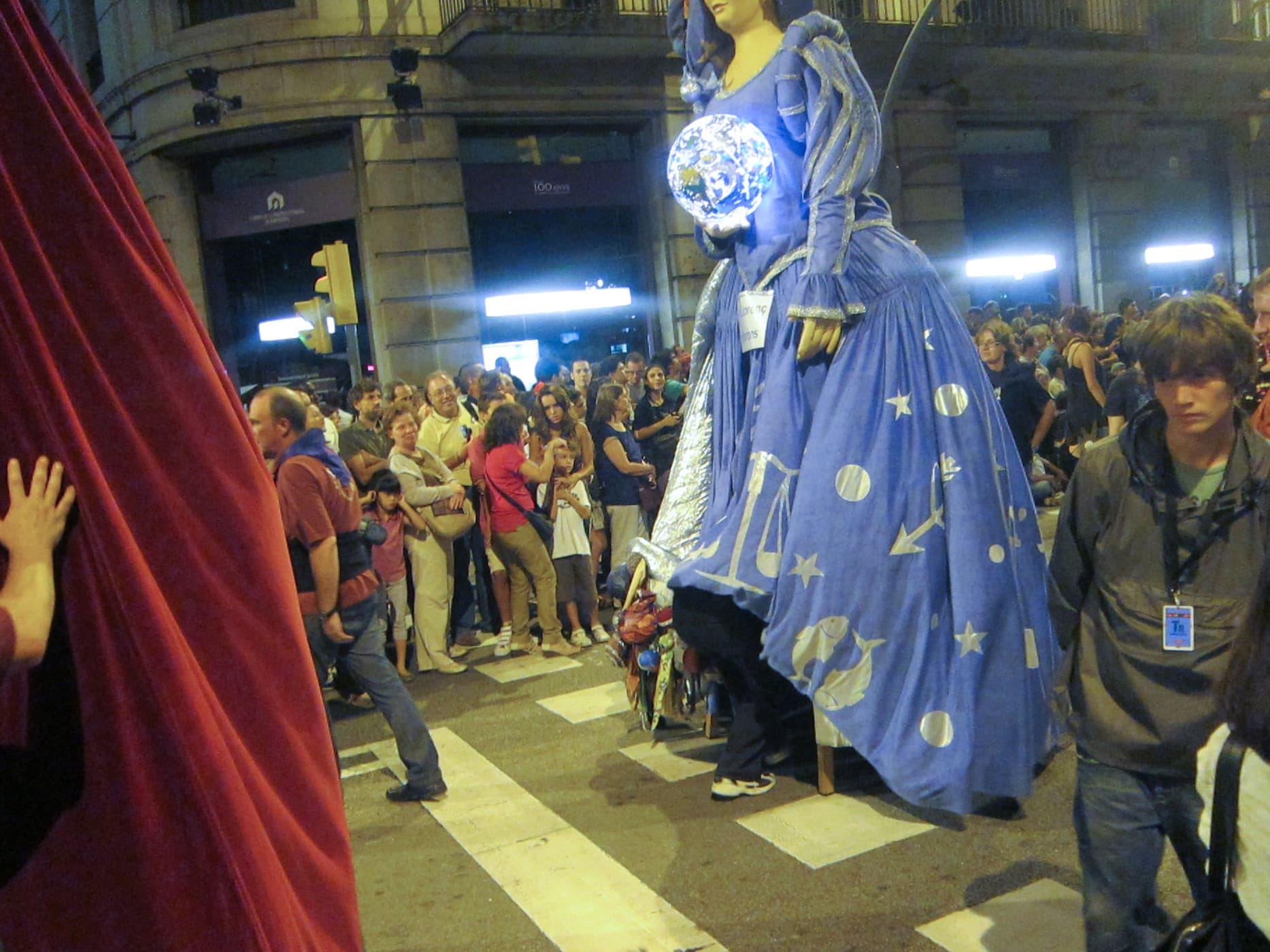 Gegants parade at La Mercè Festival in Barcelona, Spain