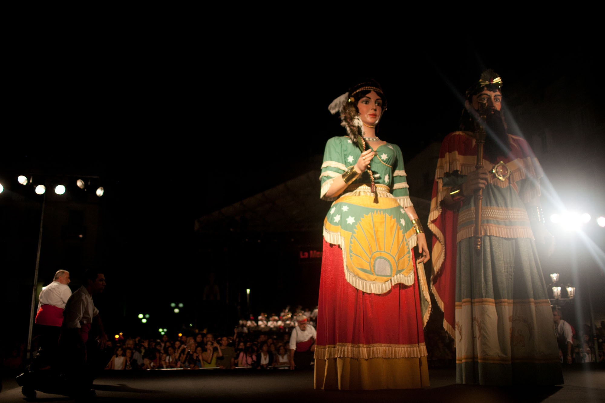 Gegants at the Opening Ceremony of La Mercè Festival 2011 in Barcelona, Spain