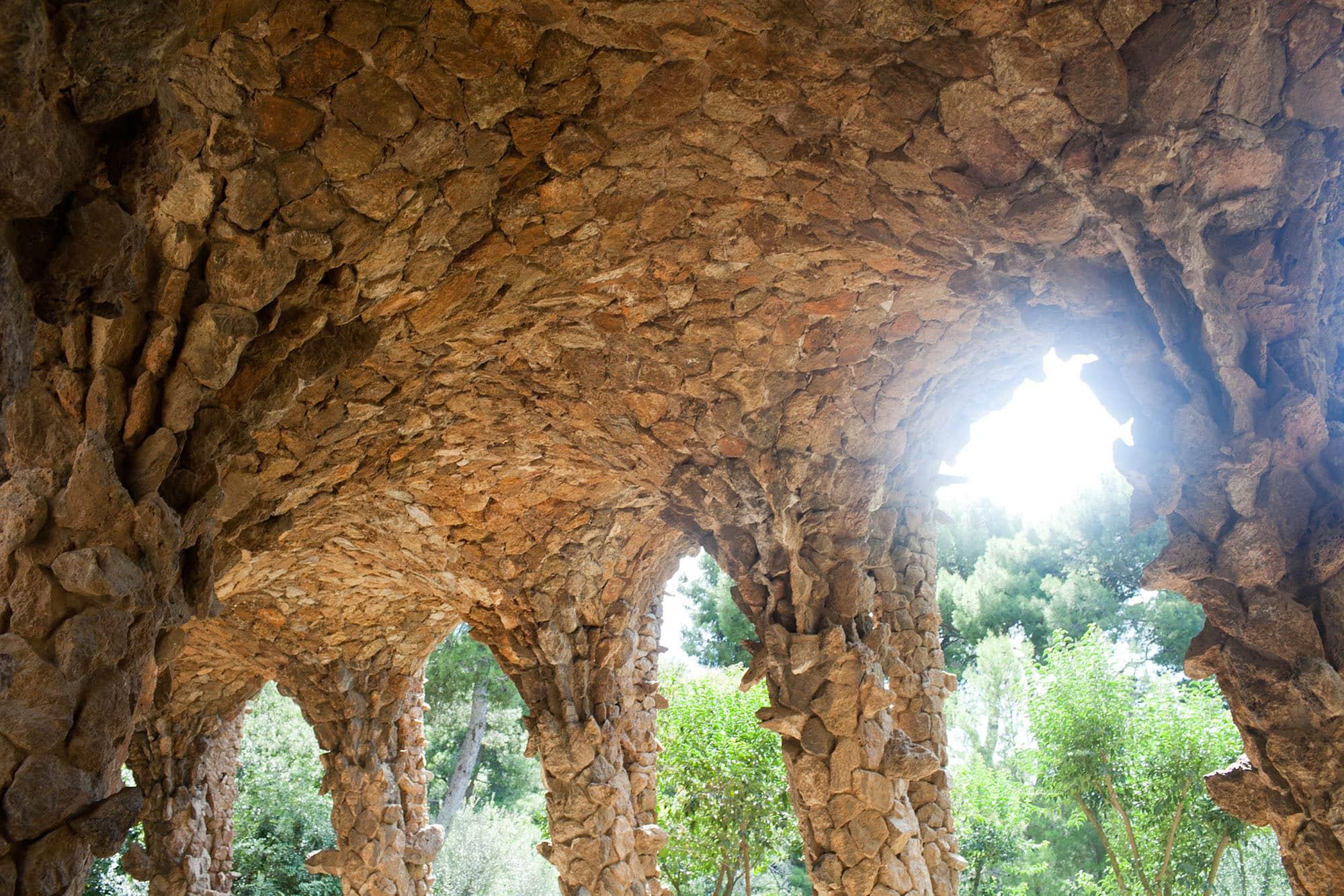 Park Güell, a Gaudi designed park, in Barcelona, Spain.