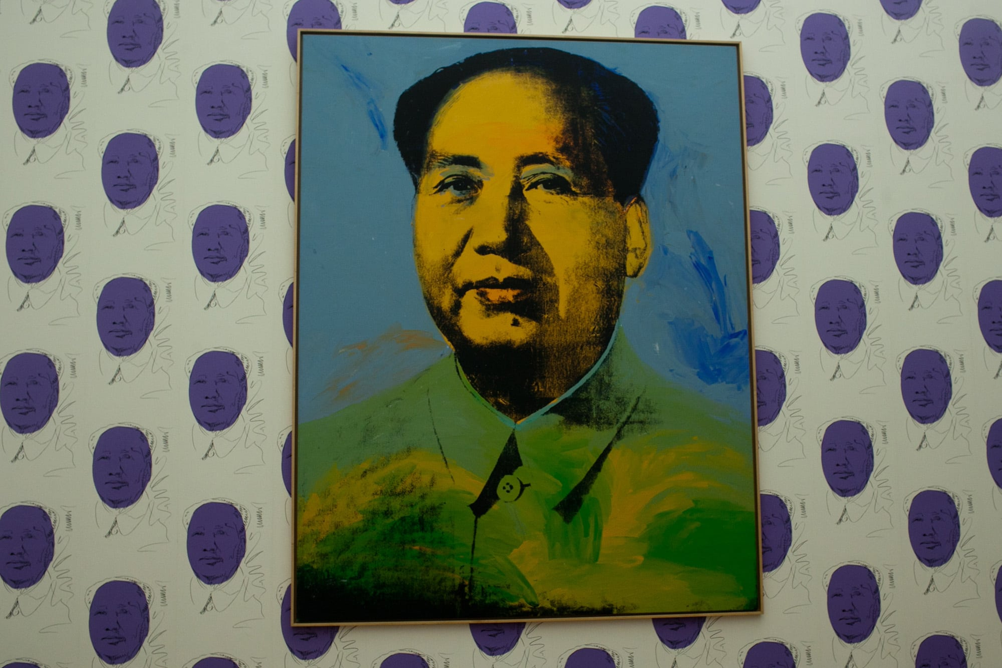 Hamburger Bahnhof contemporary art museum in Berlin, Germany. Andy Worhol's Mao
