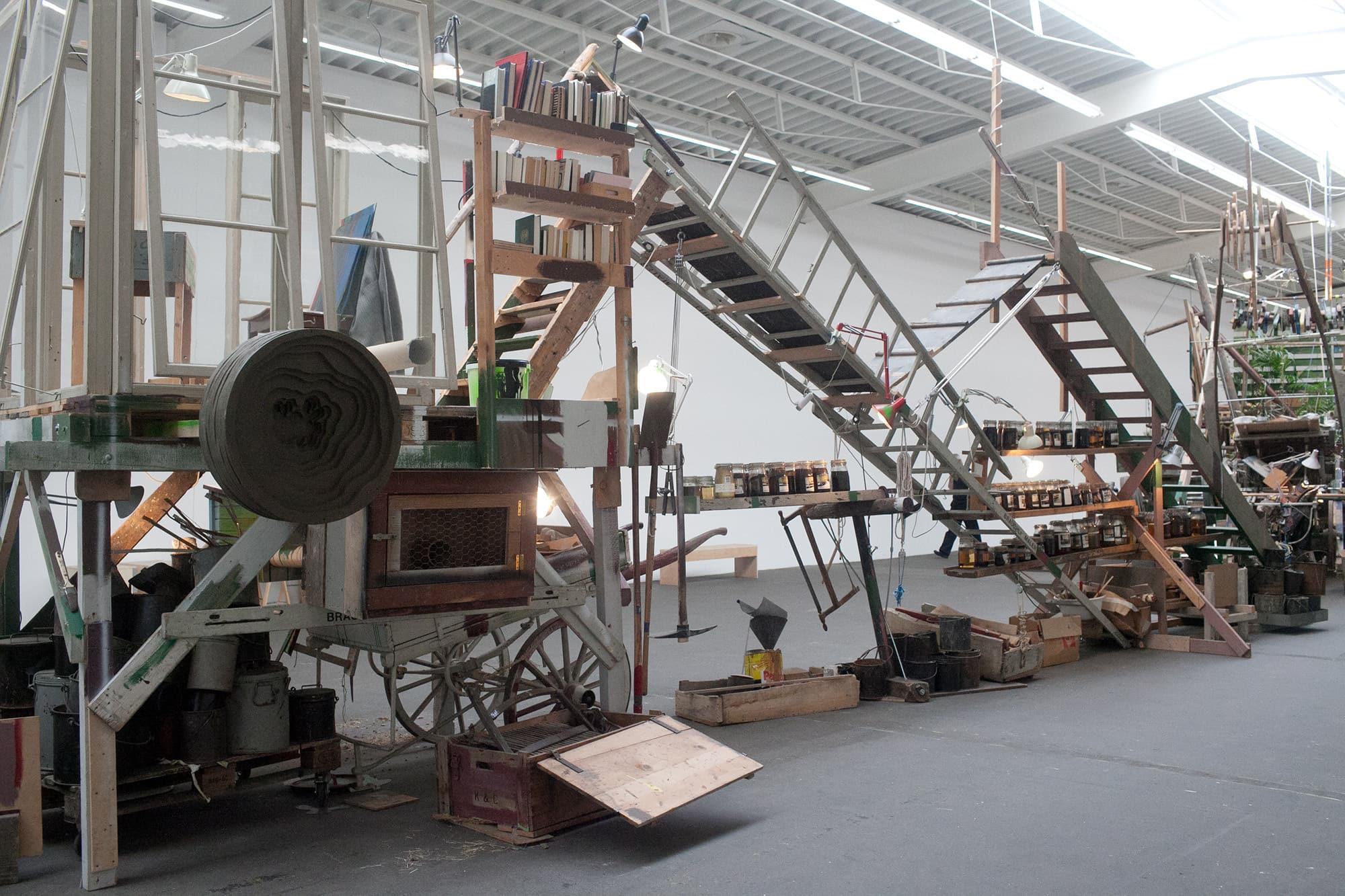 Hamburger Bahnhof contemporary art museum in Berlin, Germany. Art installation at Hamburger Bahnhof in Berlin