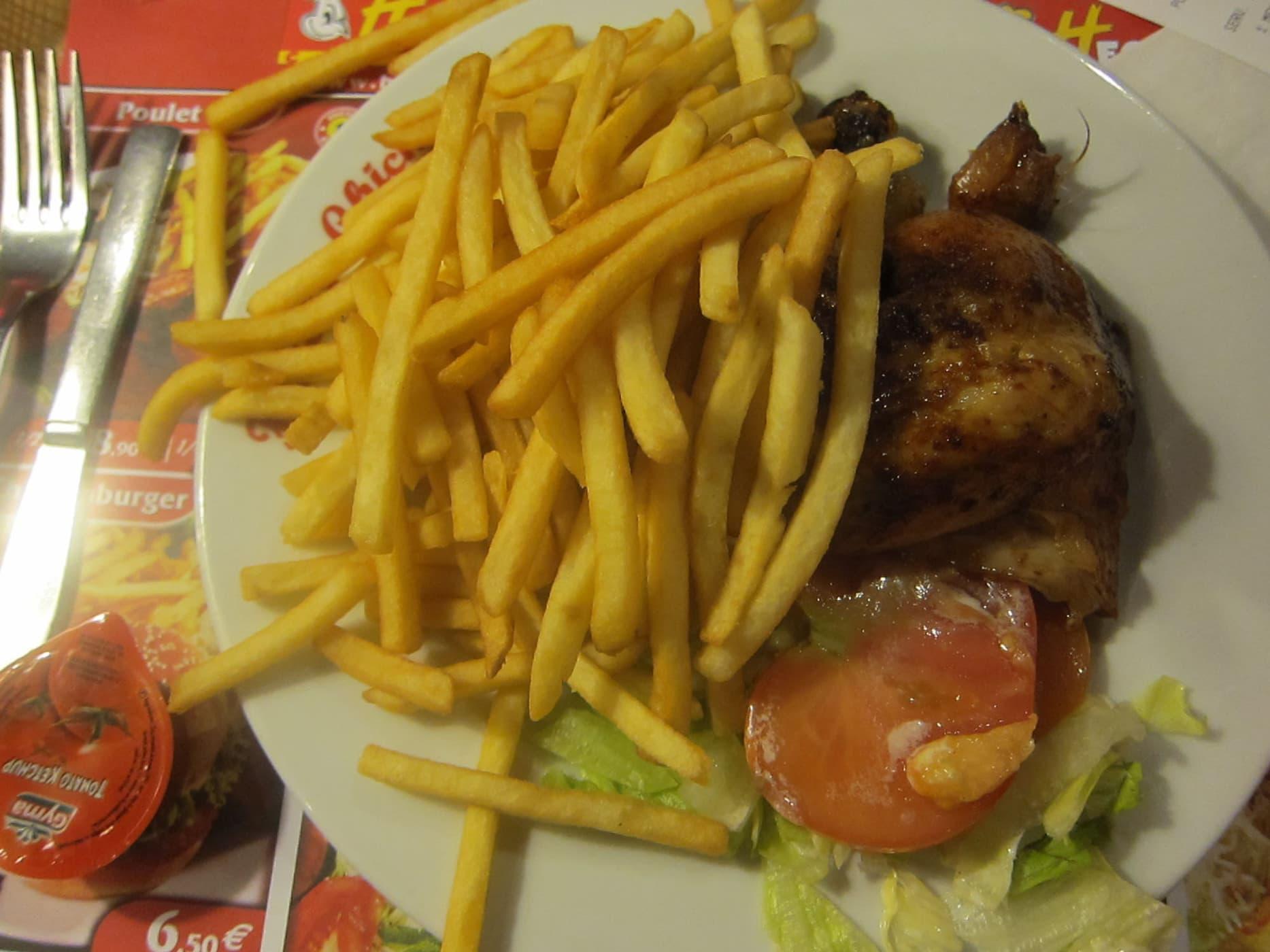 Roast chicken in Brussels, Belgium