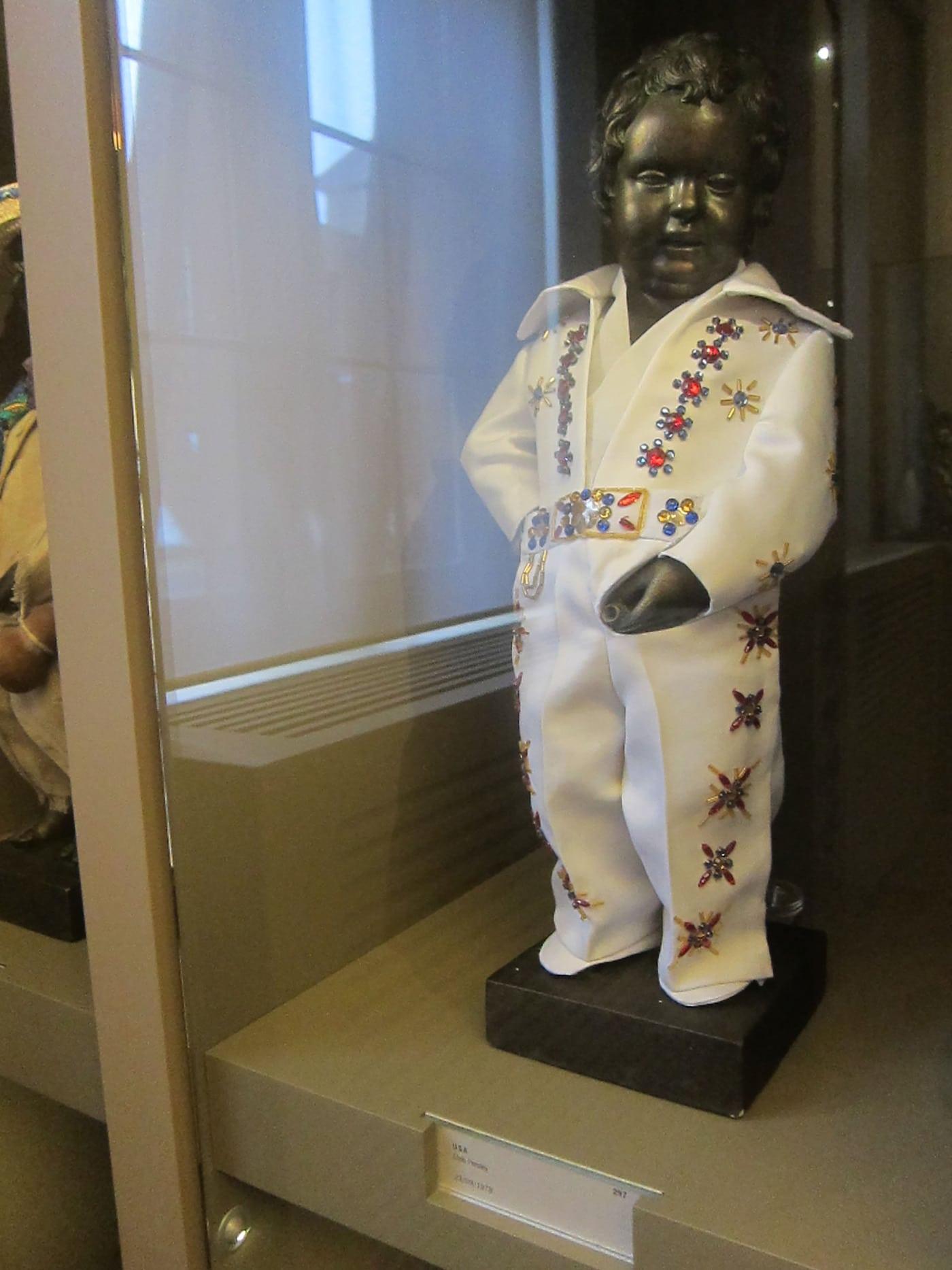 Manneken Pis's wardrobe at the City Museum in Brussels, Belgium