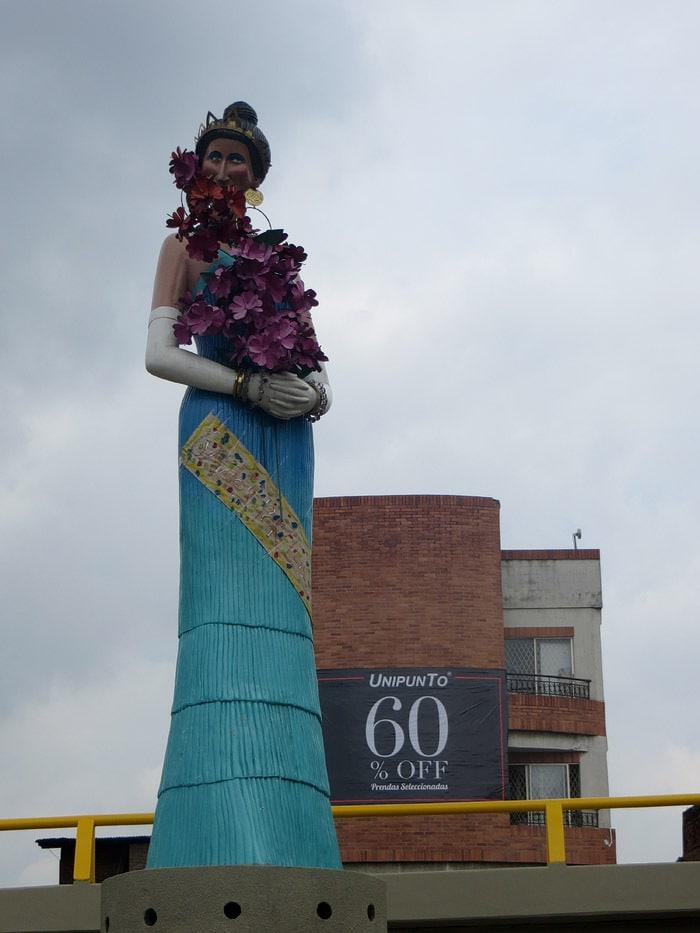 Jovita Feijoo statue in Cali, Colombia