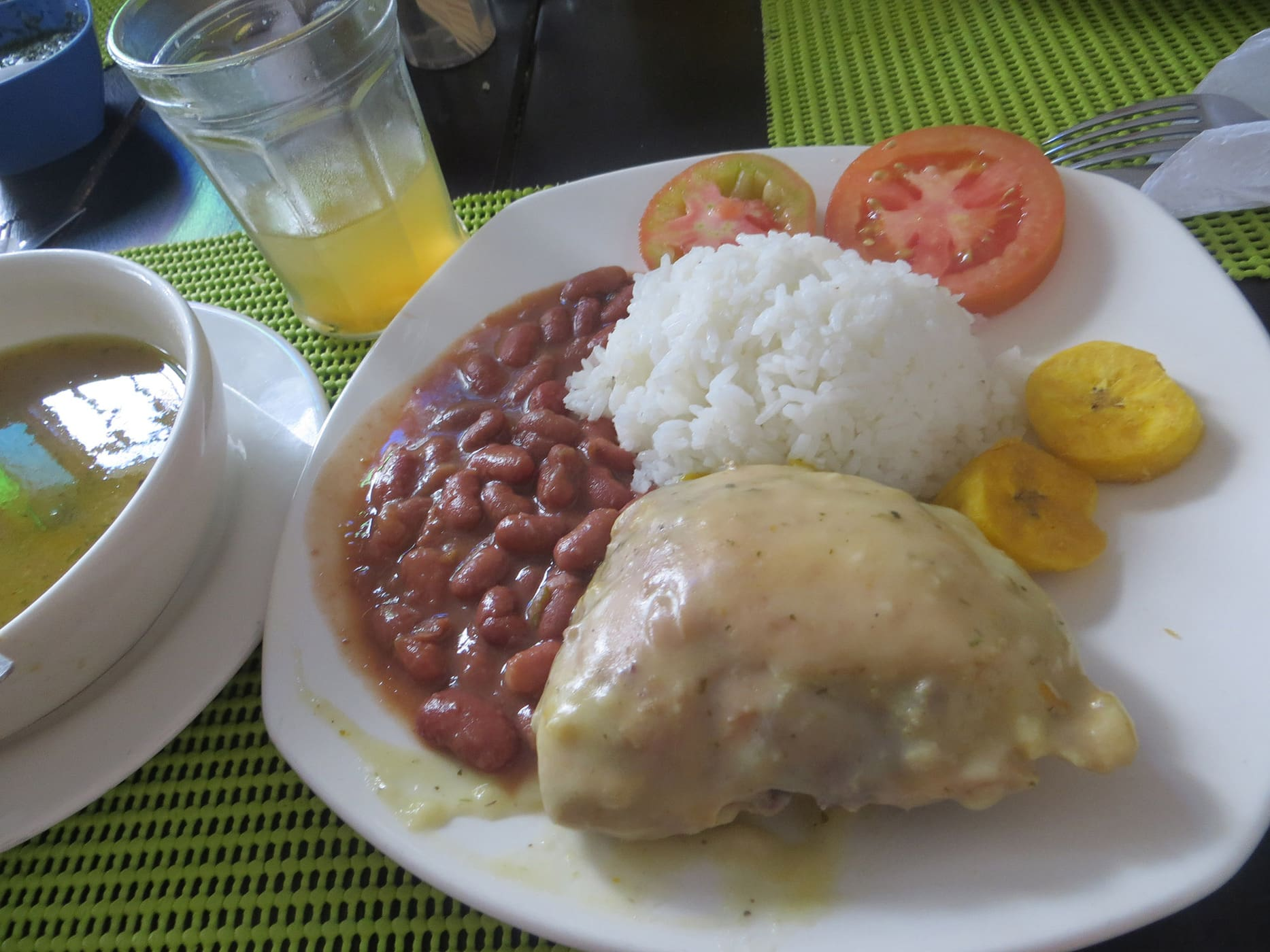 Colombian lunch in Cali, Colombia