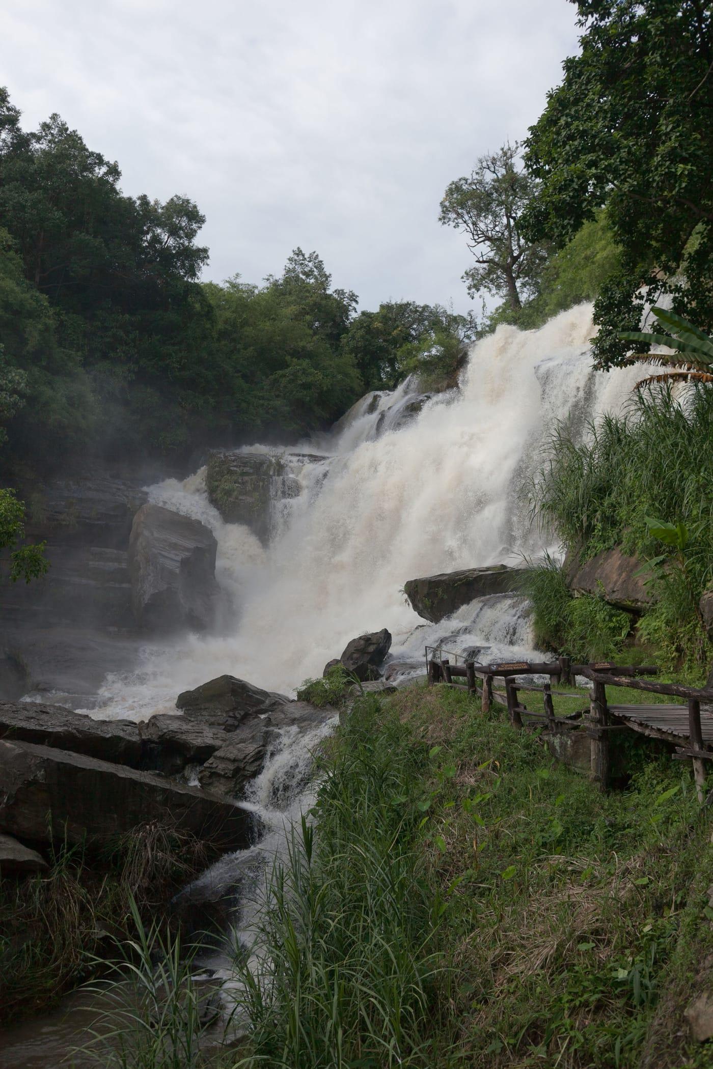 Mae Klang  waterfall in Chiang Mai, Thailand.