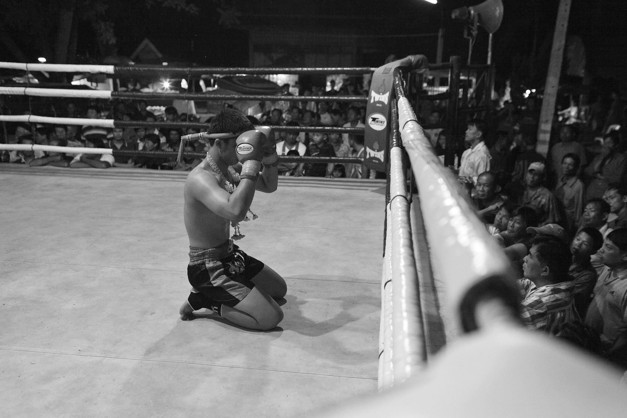 Chiang Mai Muay Thai boxing  fight in Chiang Mai, Thailand.
