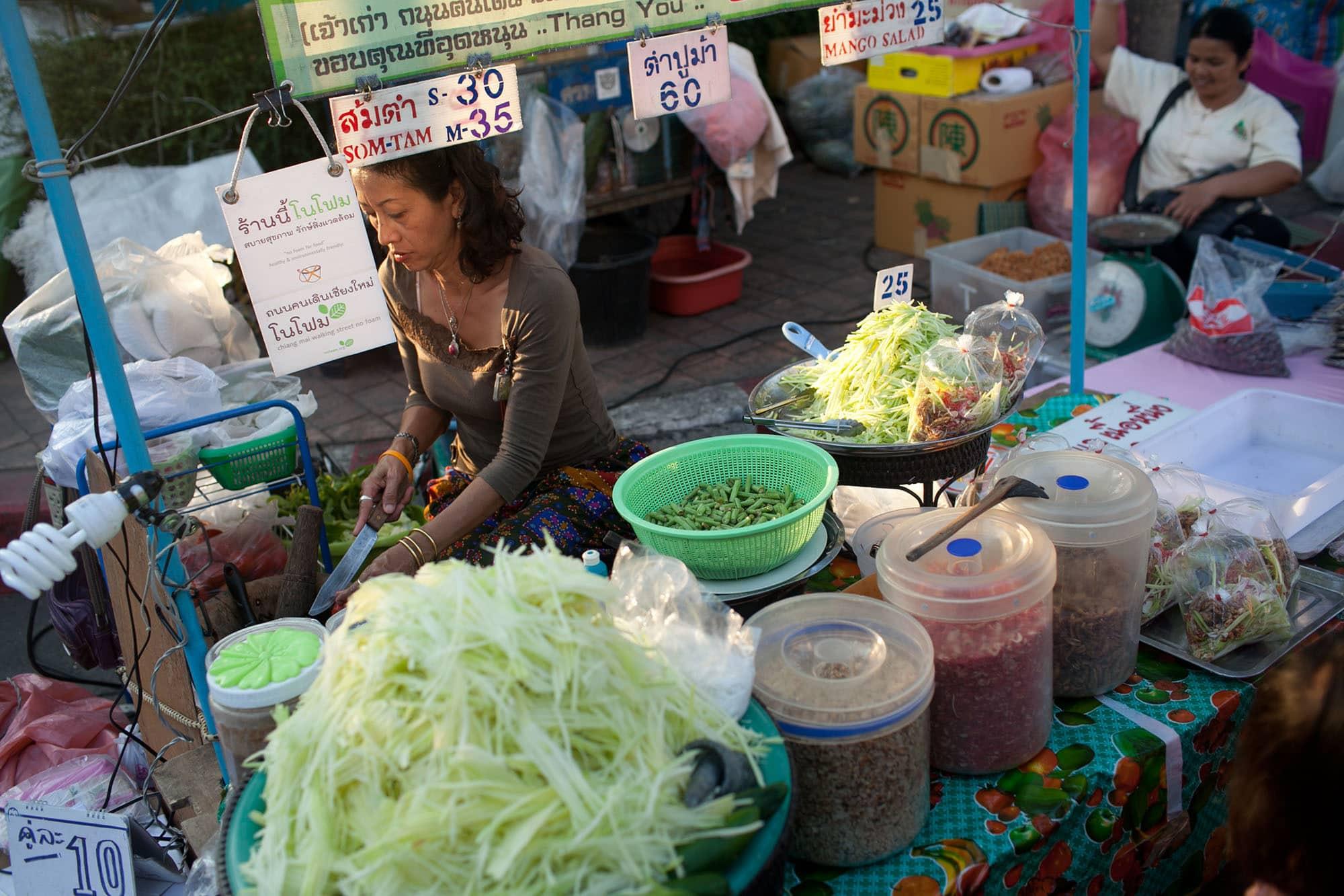 Sunday Market in Chiang Mai, Thailand