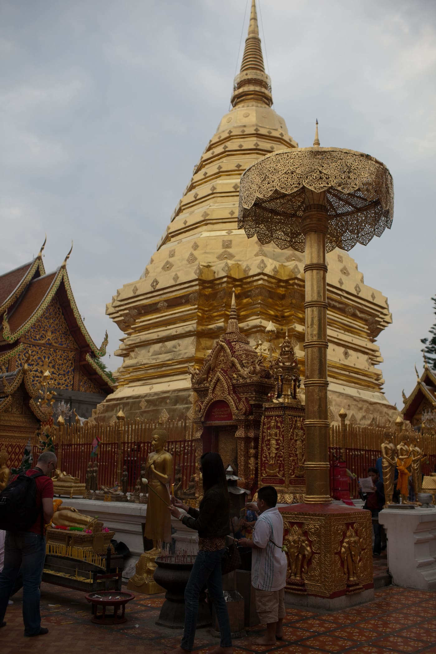 Doi Suthep, a temple on top of a hill, in Chiang Mai, Thailand