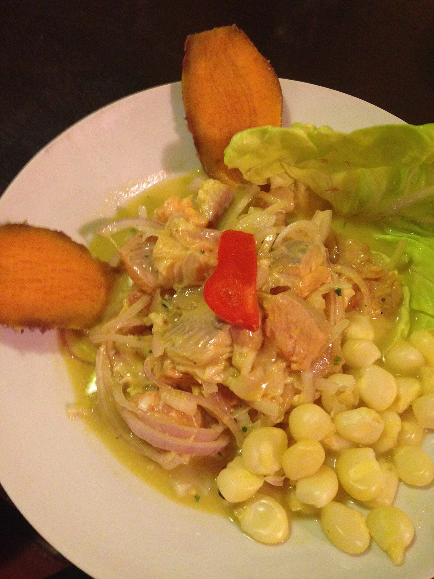 Trout ceviche in Cusco, Peru. What to eat in Cusco, Peru.