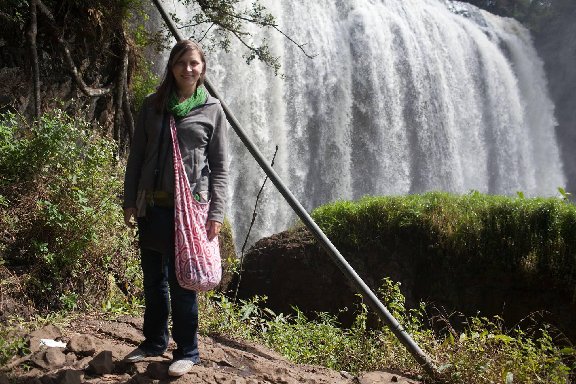 Elephant waterfall in Dalat, Vietnam - Dalat Countryside Tour in Vietnam