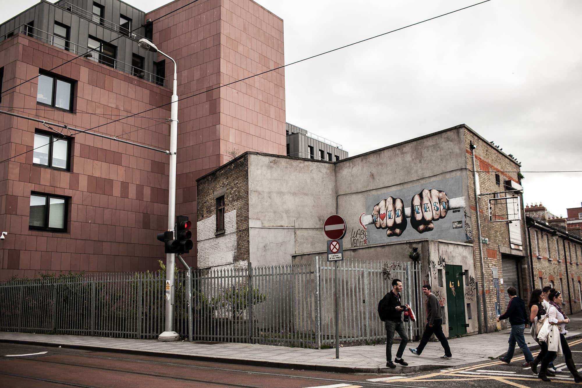Hold Fast graffiti in Dublin, Ireland