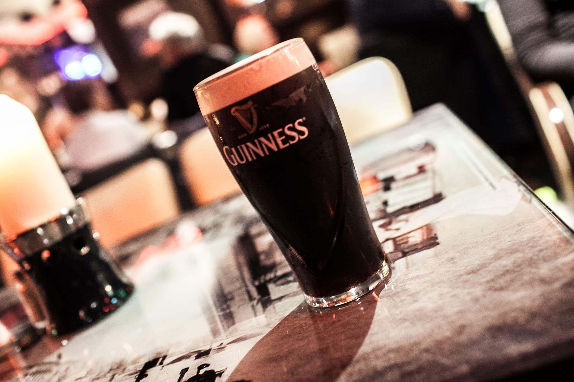 Guinness in an Irish Pub - Dublin, Ireland