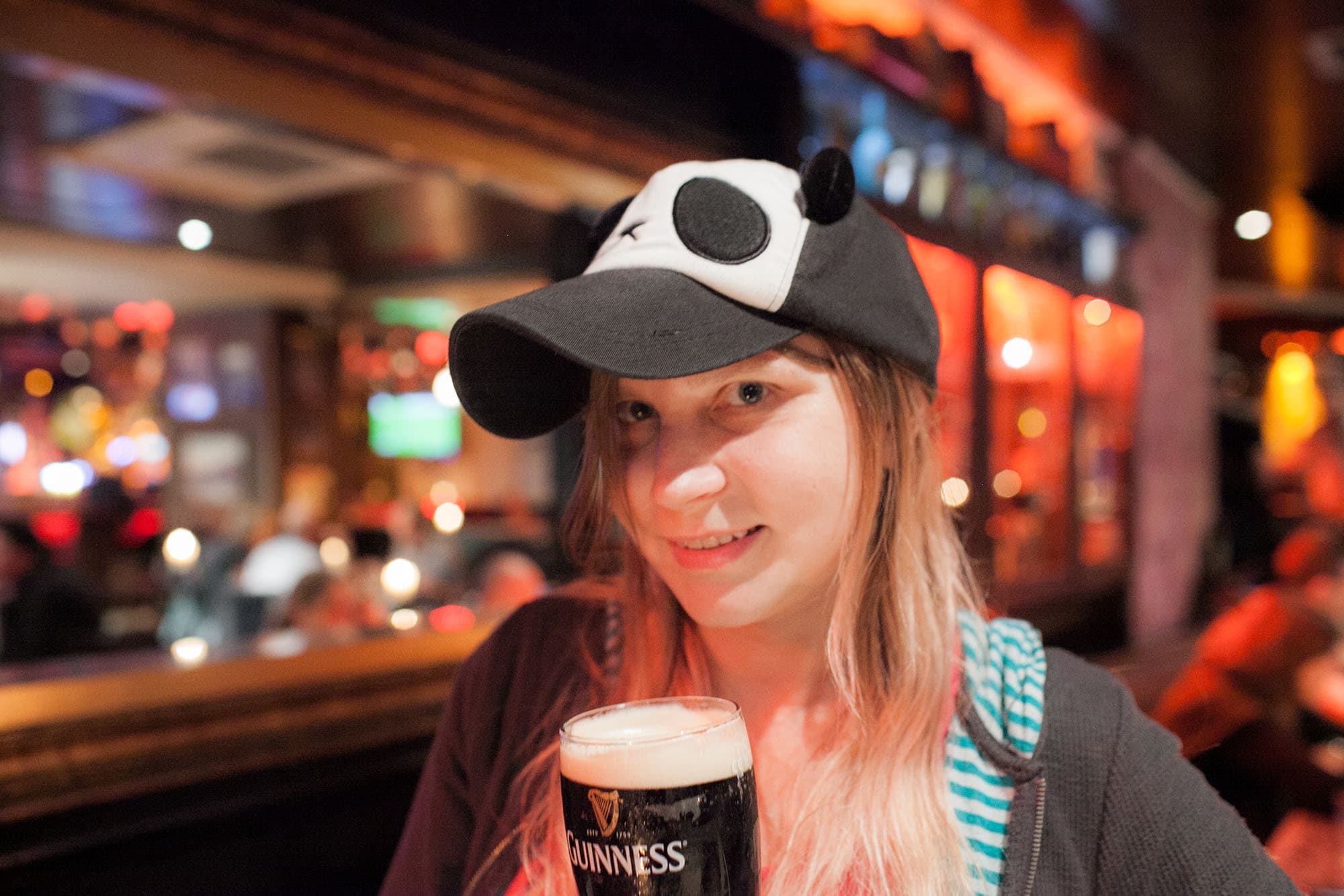 Drinking pints at a pub in Dublin, Ireland