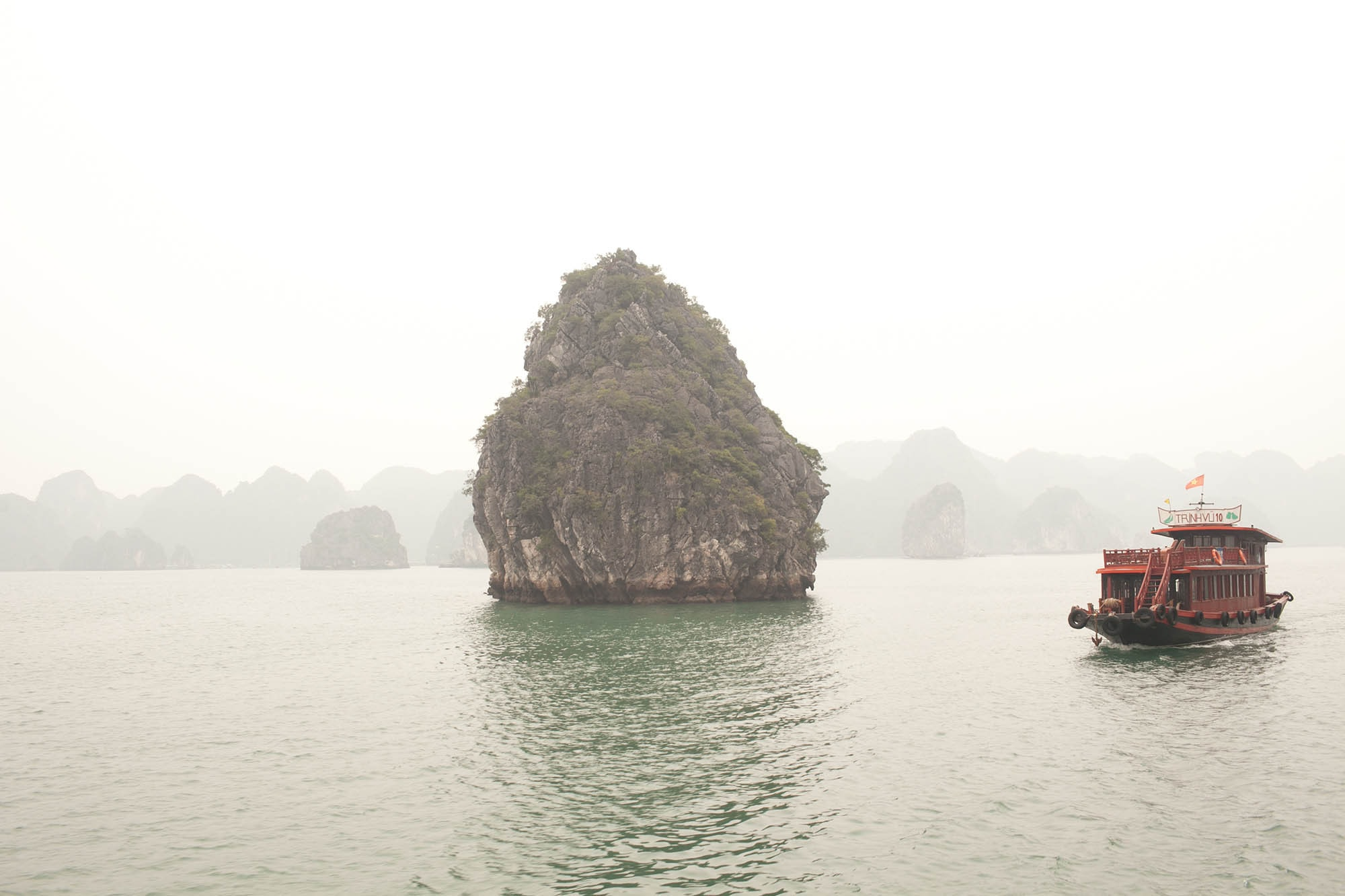 Halong Bay New Year's Eve Tour in Vietnam - Halong Bay Castaway Tour with Hanoi Backpackers on the Jolly Roger and Castaways Island.