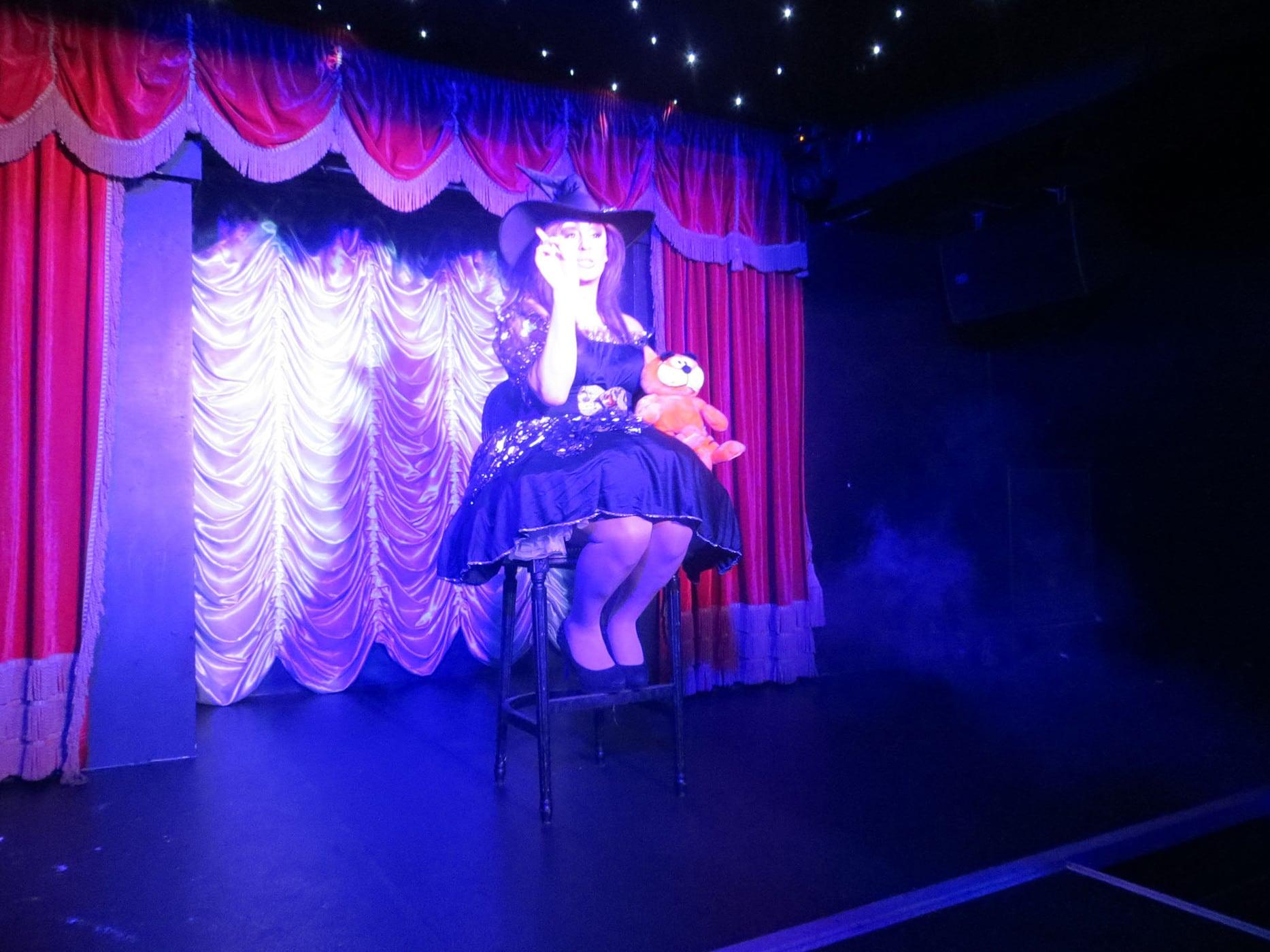 Drag queen performing in Leeds, England.