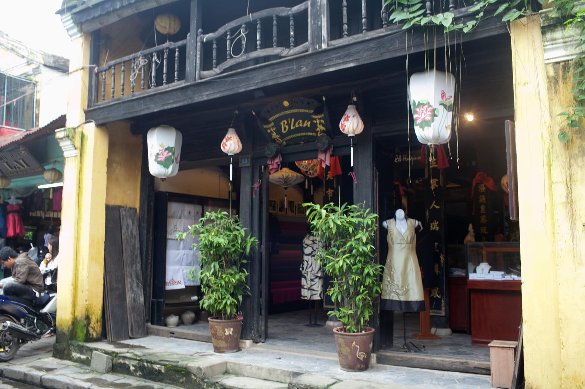 Shopping in Hoi An - custom tailored dress at B'Lan in Hoi An, Vietnam