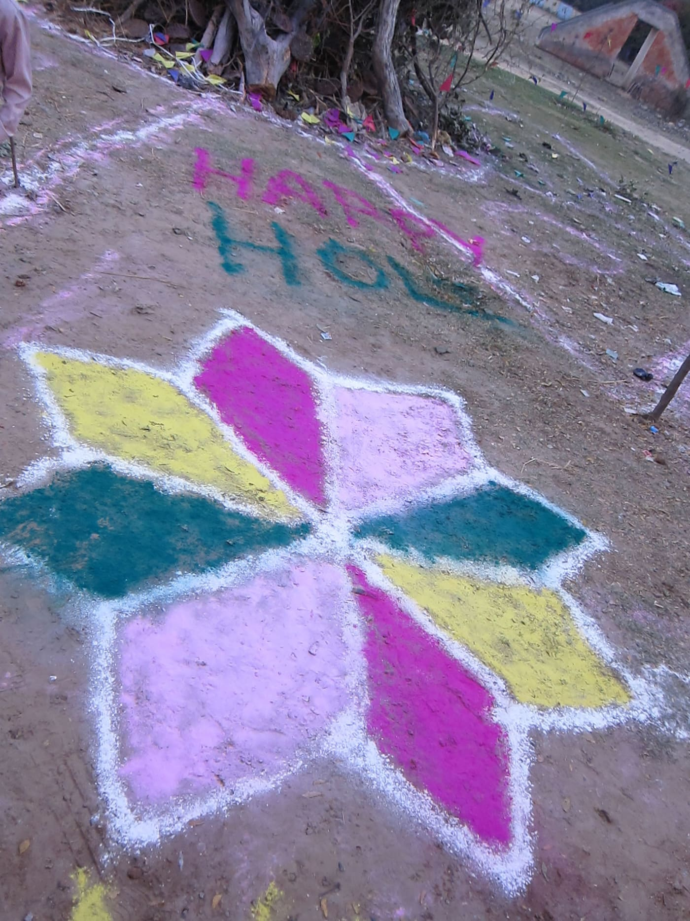 Holi Color Festival in Mathura, India.