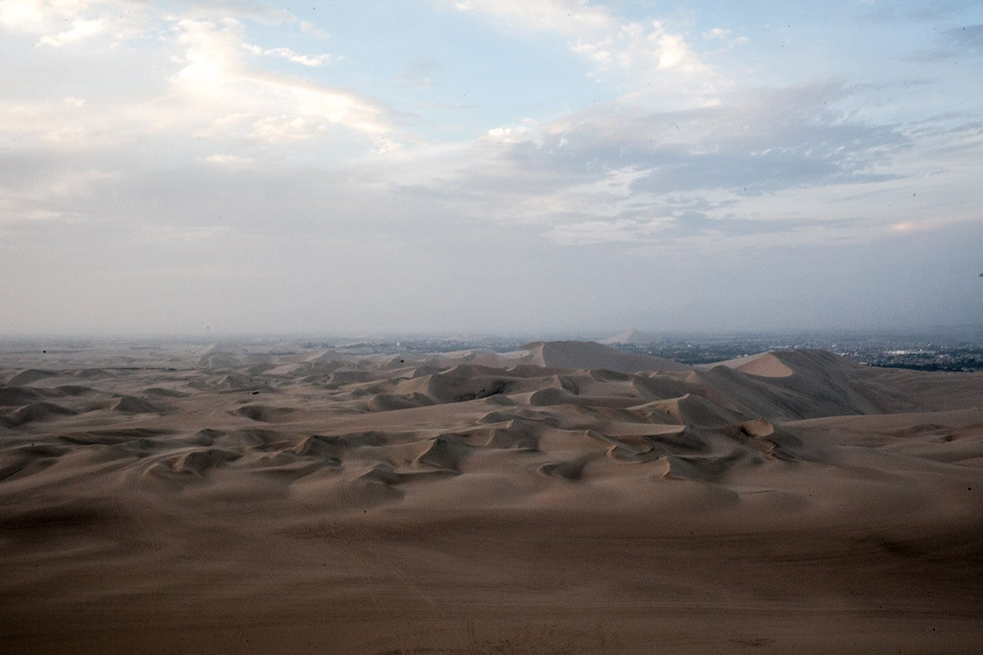 Sand dunes in Huacachina, Peru