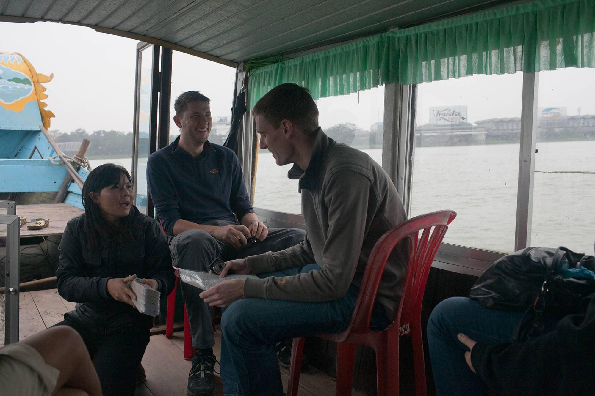 Boat ride in Hue, Vietnam