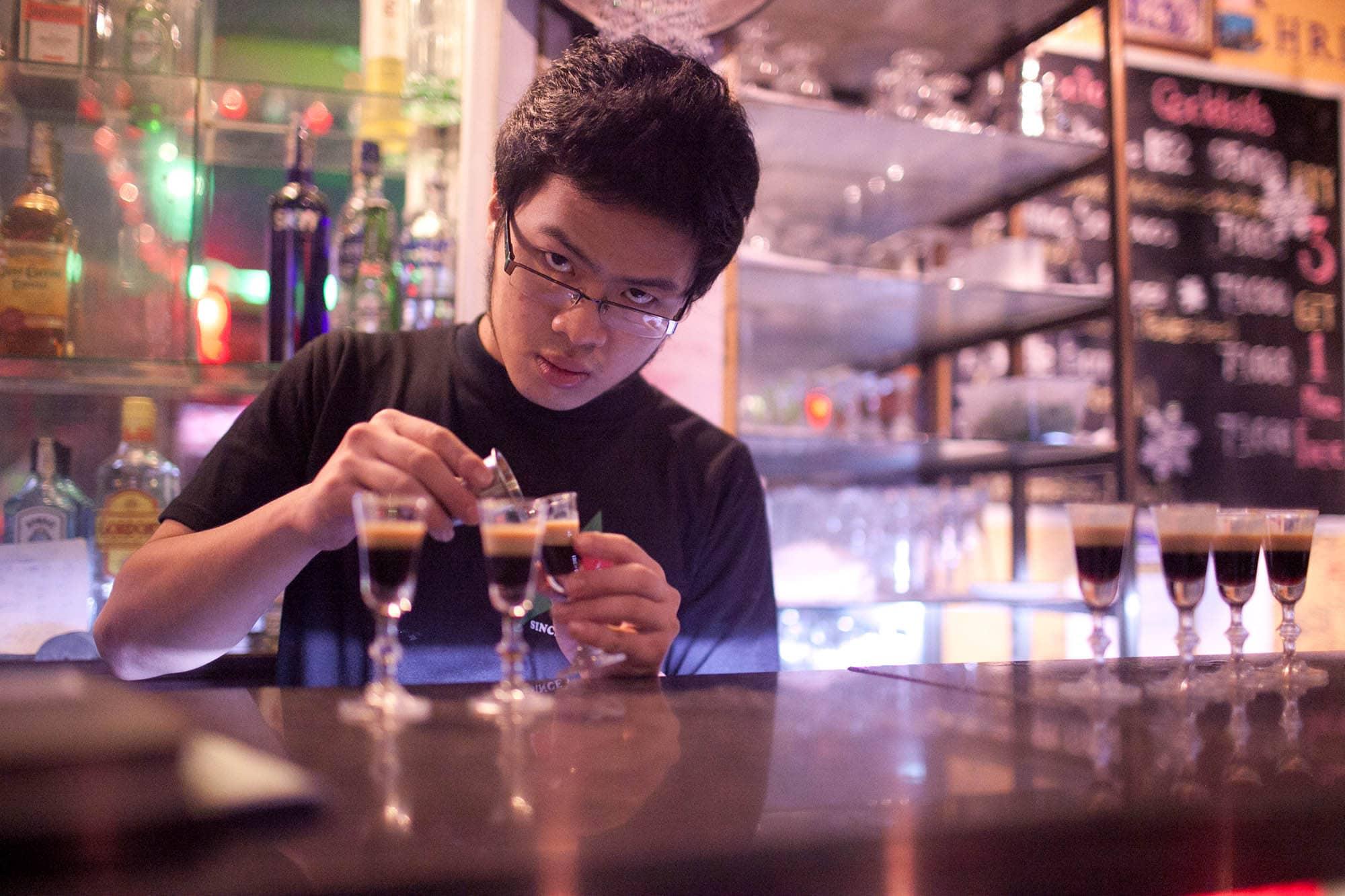 DMZ Bar in Hue, Vietnam