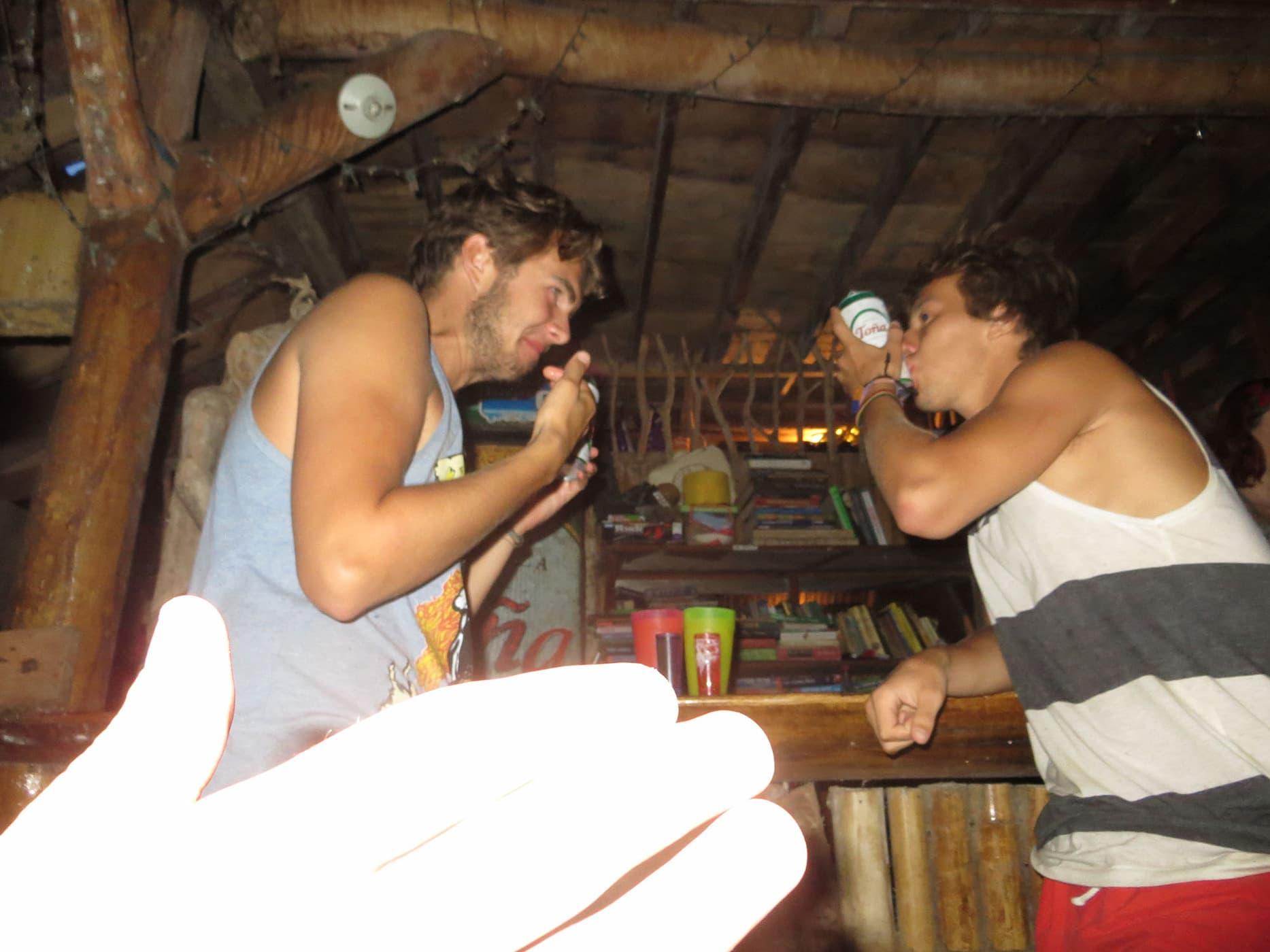 Little Morgan's Drinking Challenge on Isla de Ometepe, Nicaragua