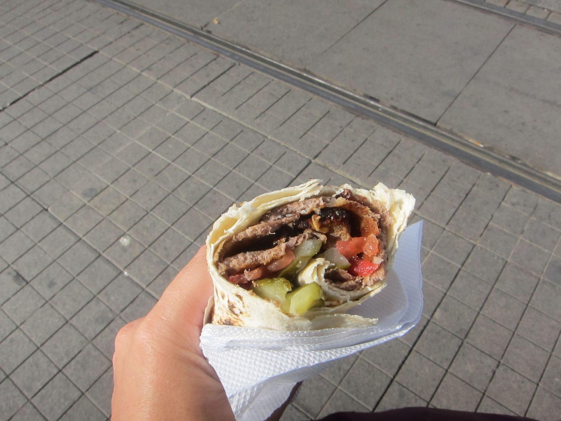 Doner kebap in Istanbul, Turkey