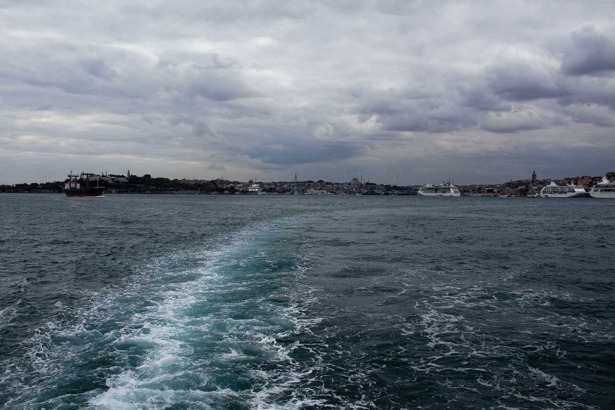 Boat to the Asian side of Istanbul, Turkey.