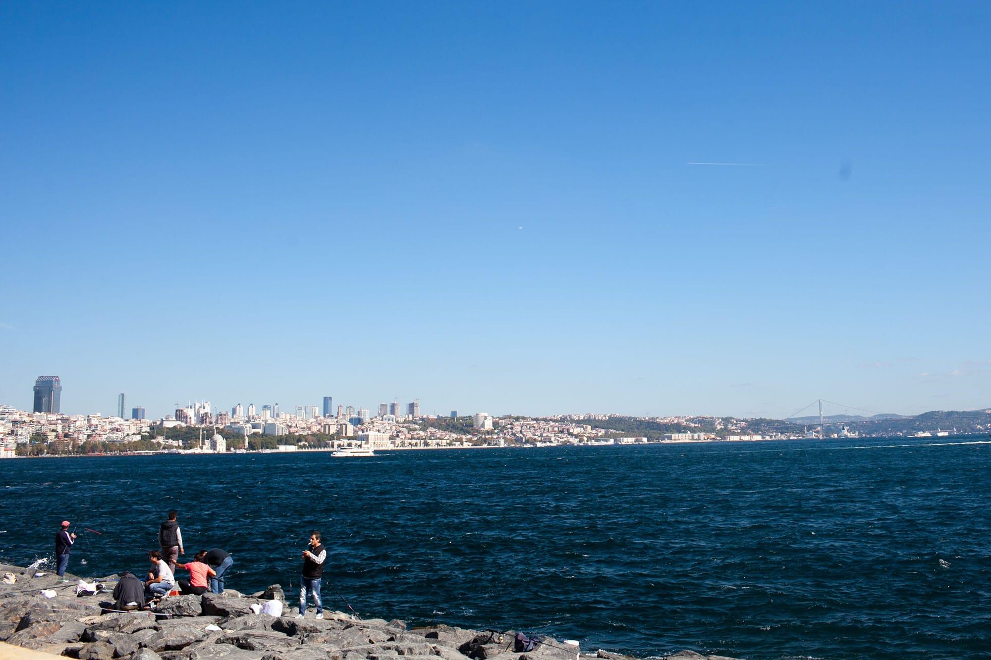Fishermen on the Bosphorus