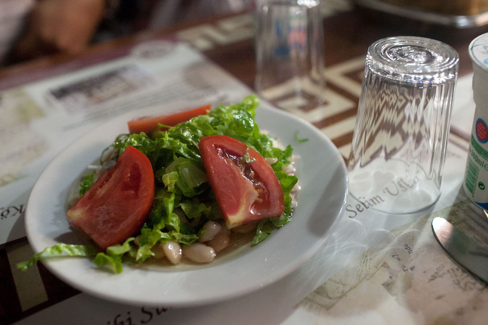 Salad with beans in Istanbul, Turkey