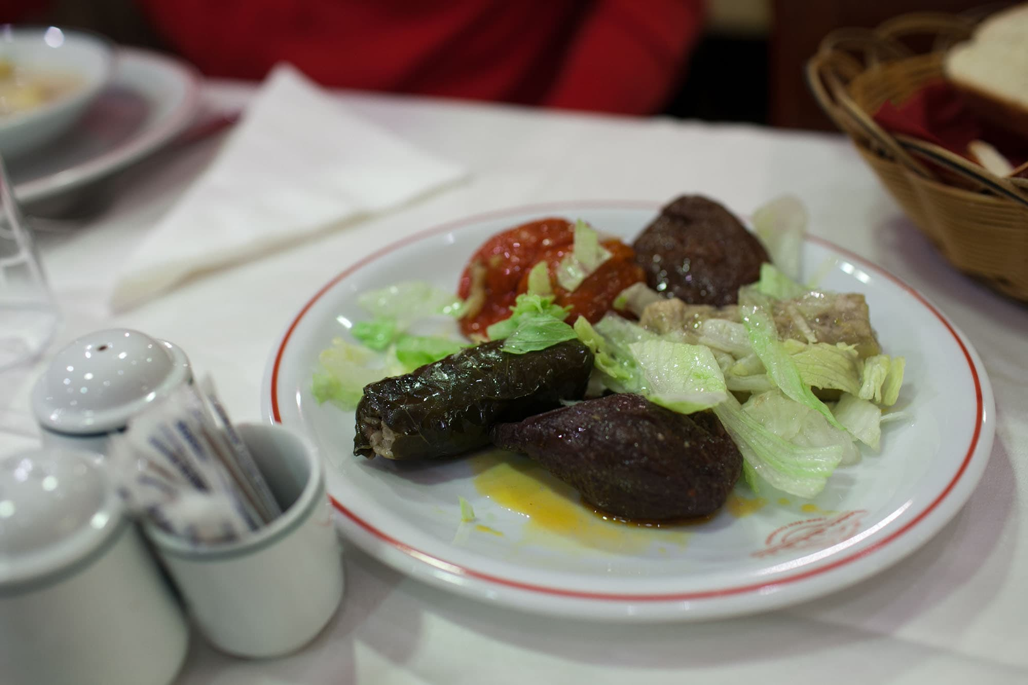 Dolma at Haci Abdullah restaurant in Istanbul, Turkey