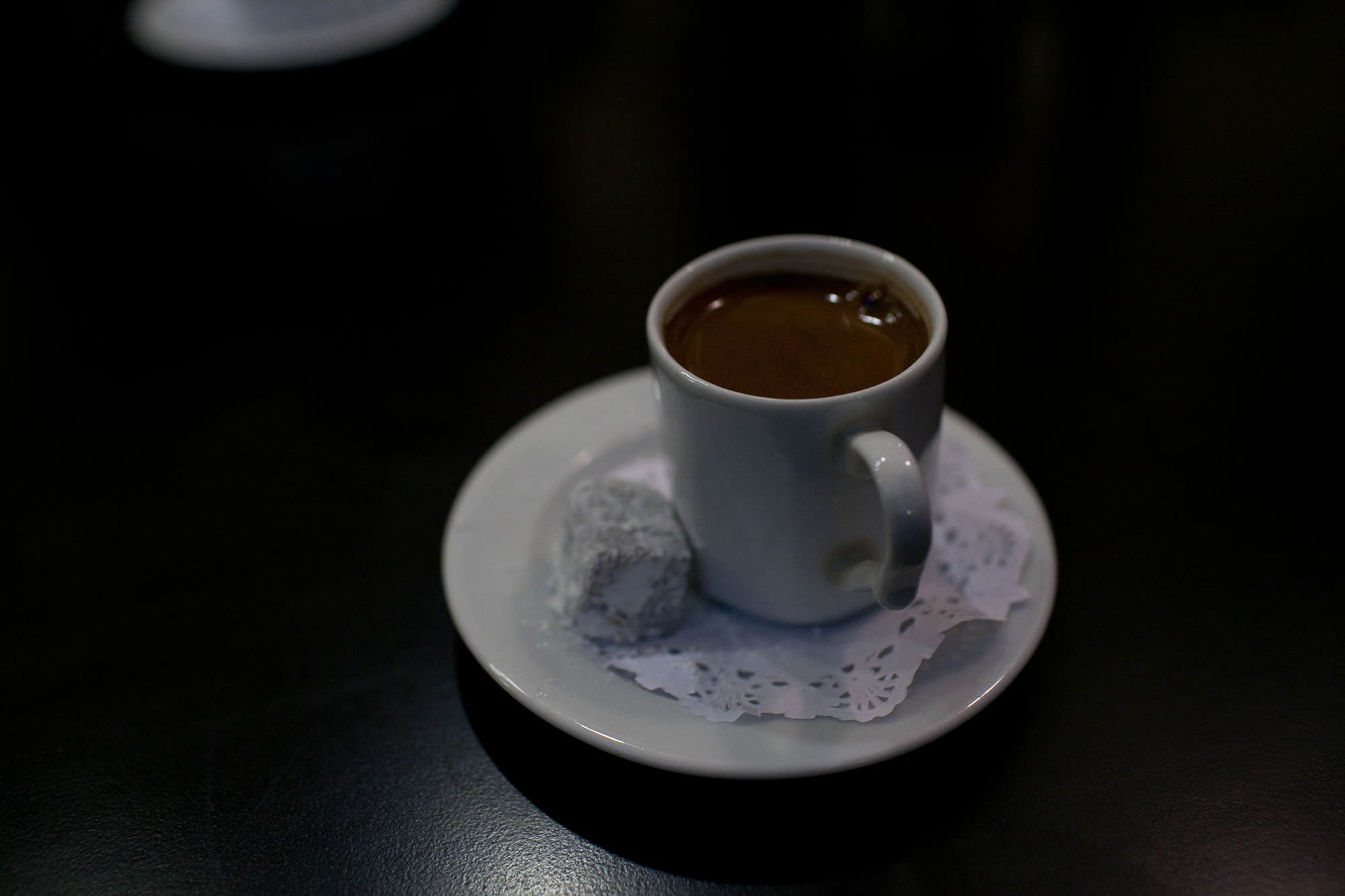 Reading our fortunes in Turkish coffee in Istanbul, Turkey