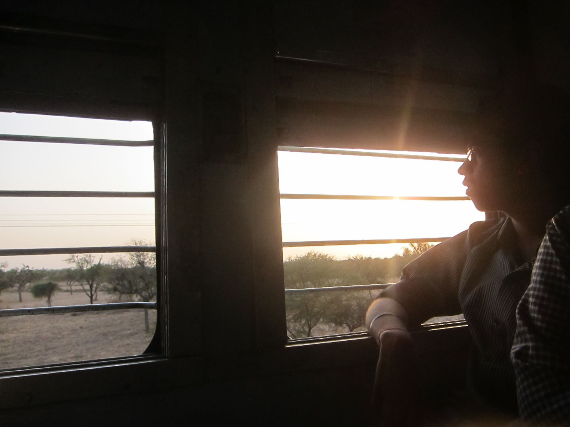 Train ride to Jodhpur, India.