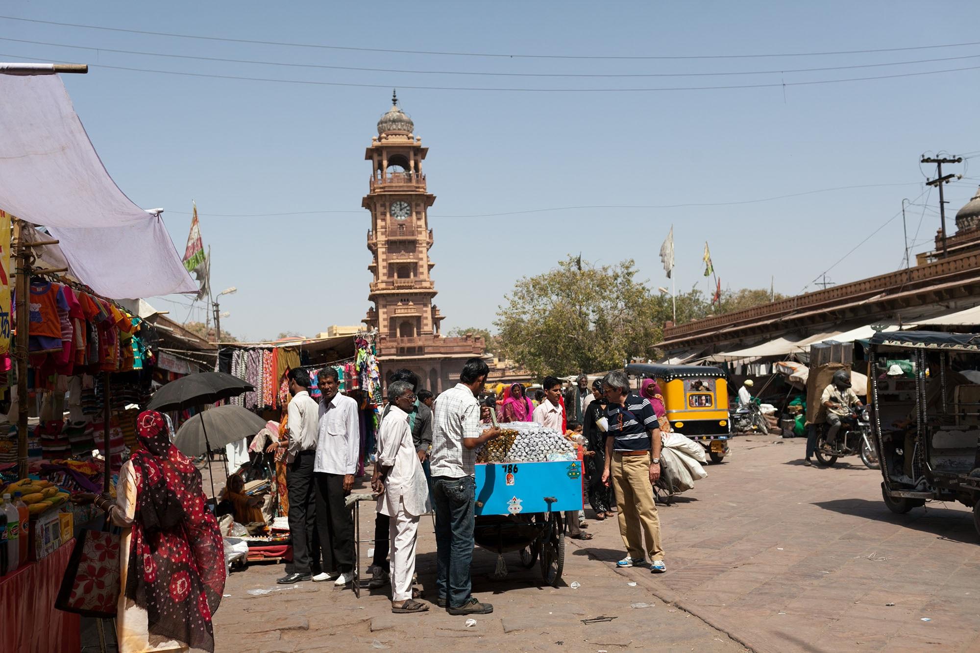 Market in Jodhpur, India.