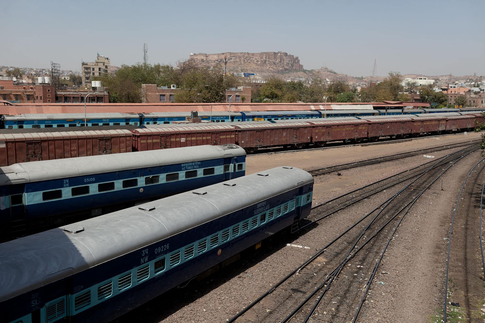 Train station in Jodhpur, India.