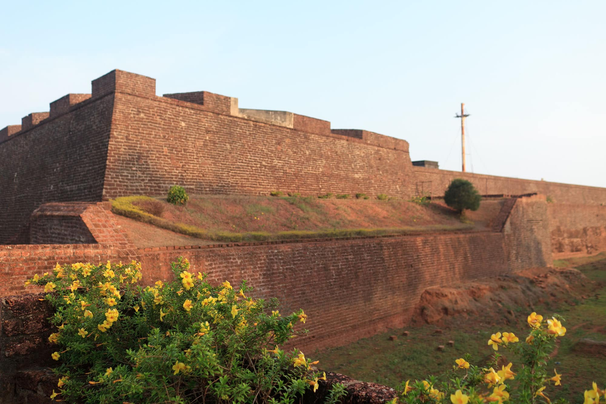 St. Angelo Fort in Kannur, India.