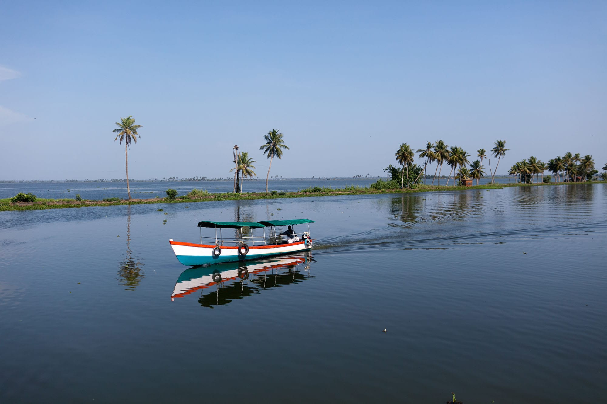 Renting a house boat on the backwaters in Kerala, India.