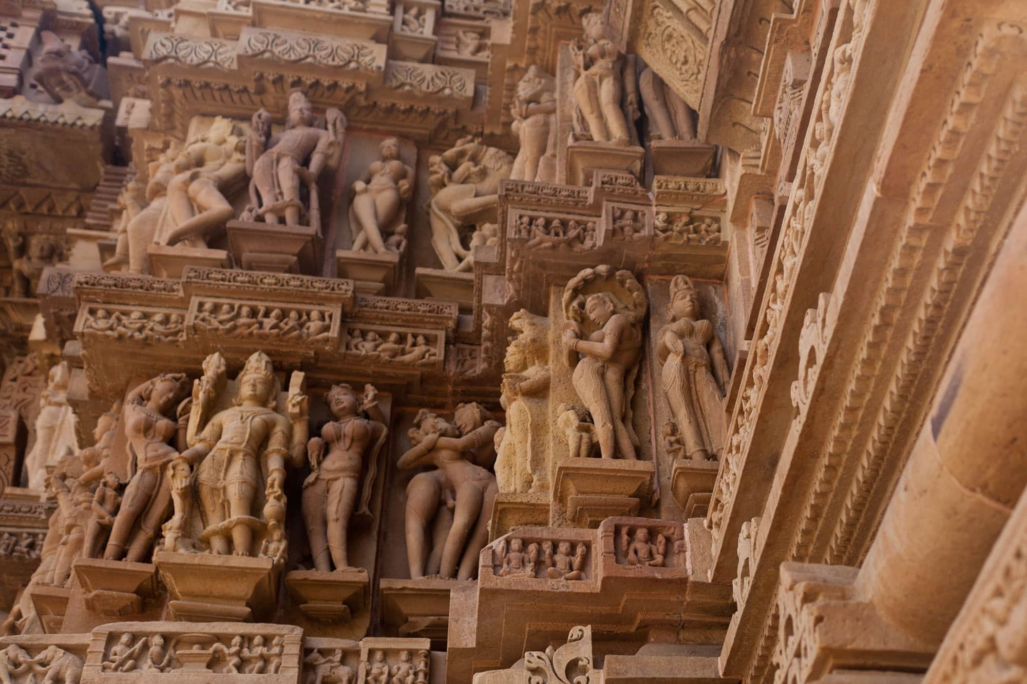Khajuraho Sex Temples -- Western Group sex temples in Khajuraho, India.
