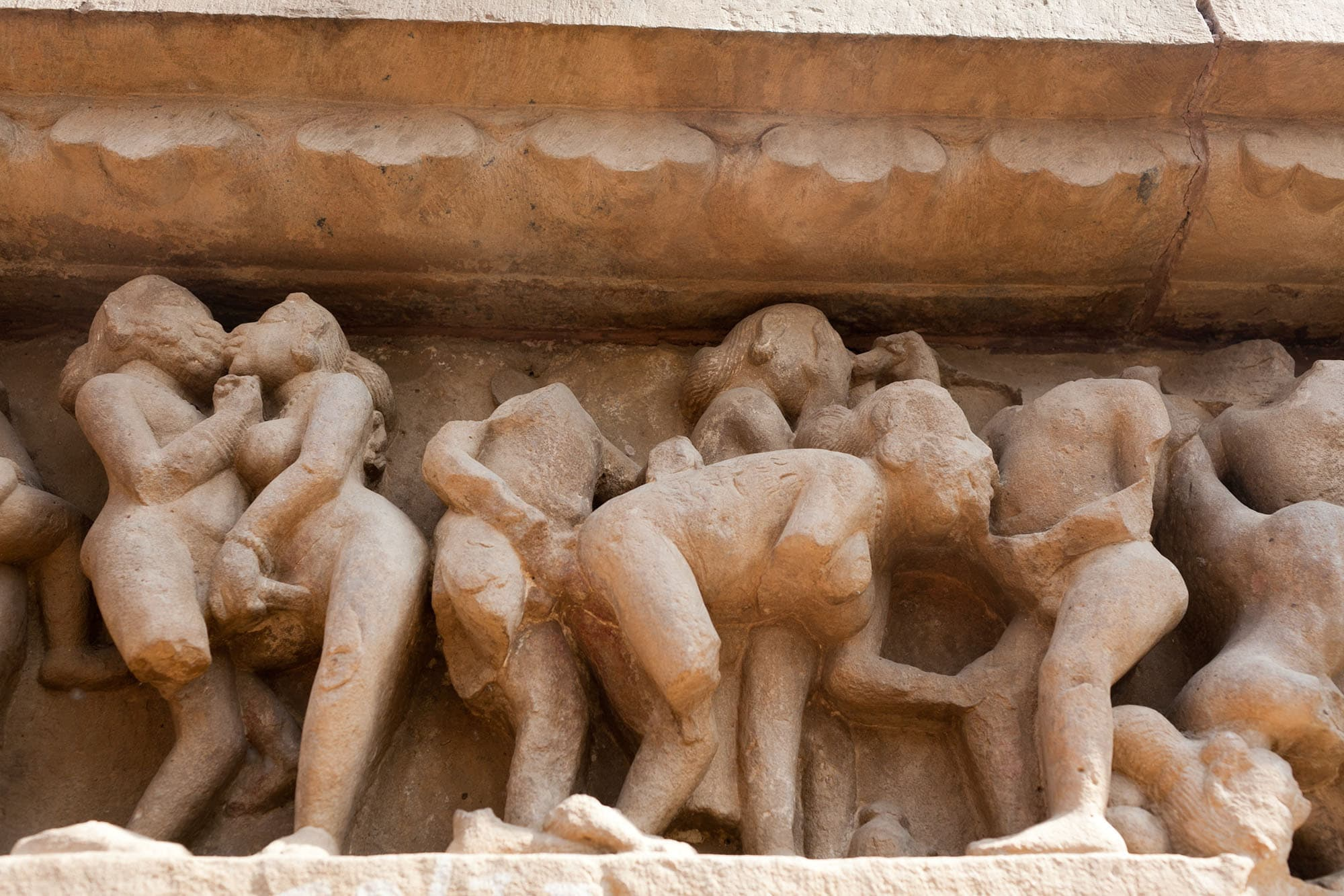 Khajuraho Sex Temples -- Western Group sex temples in Khajuraho, India.