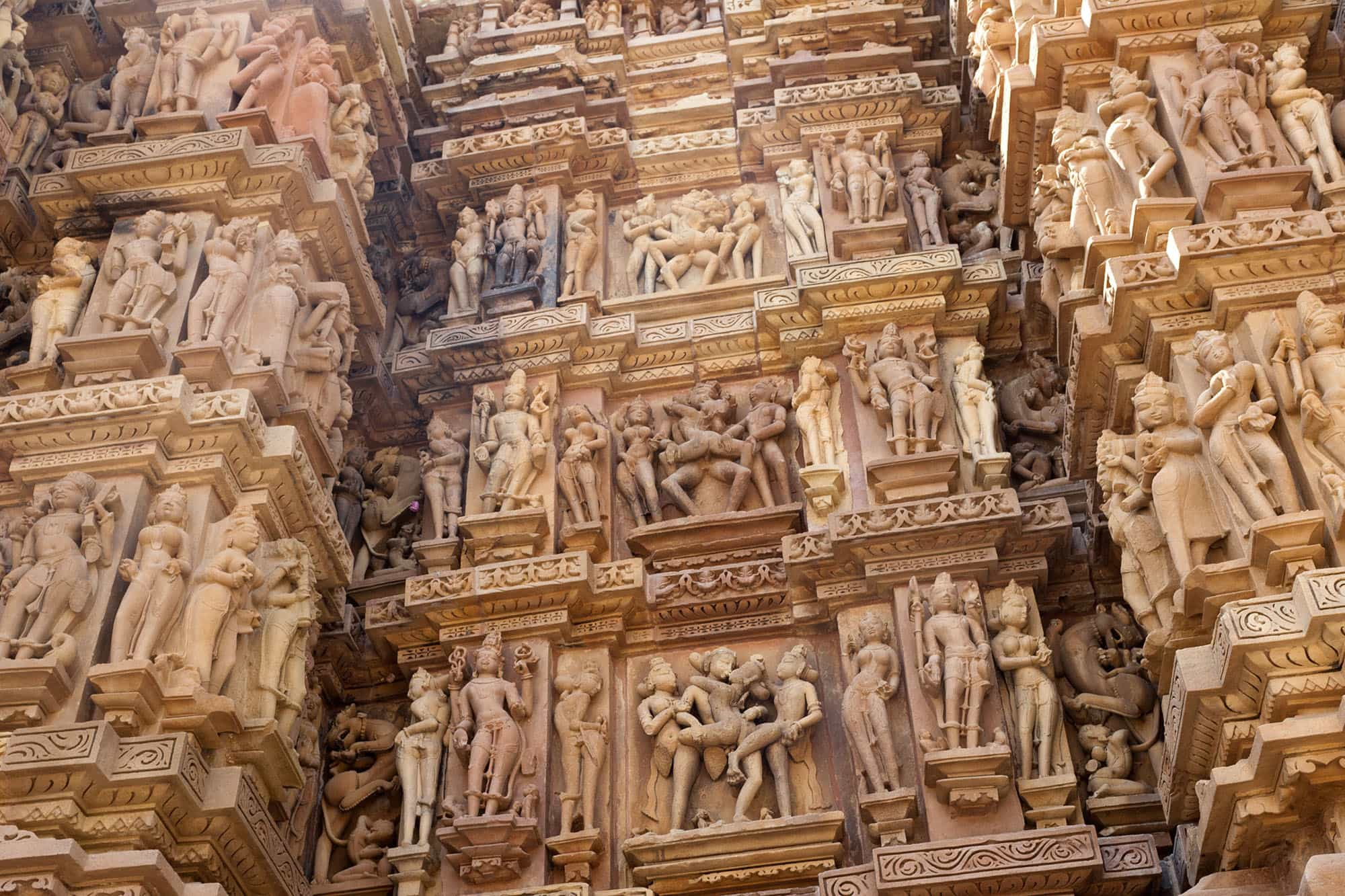 Western Group sex temples in Khajuraho, India.
