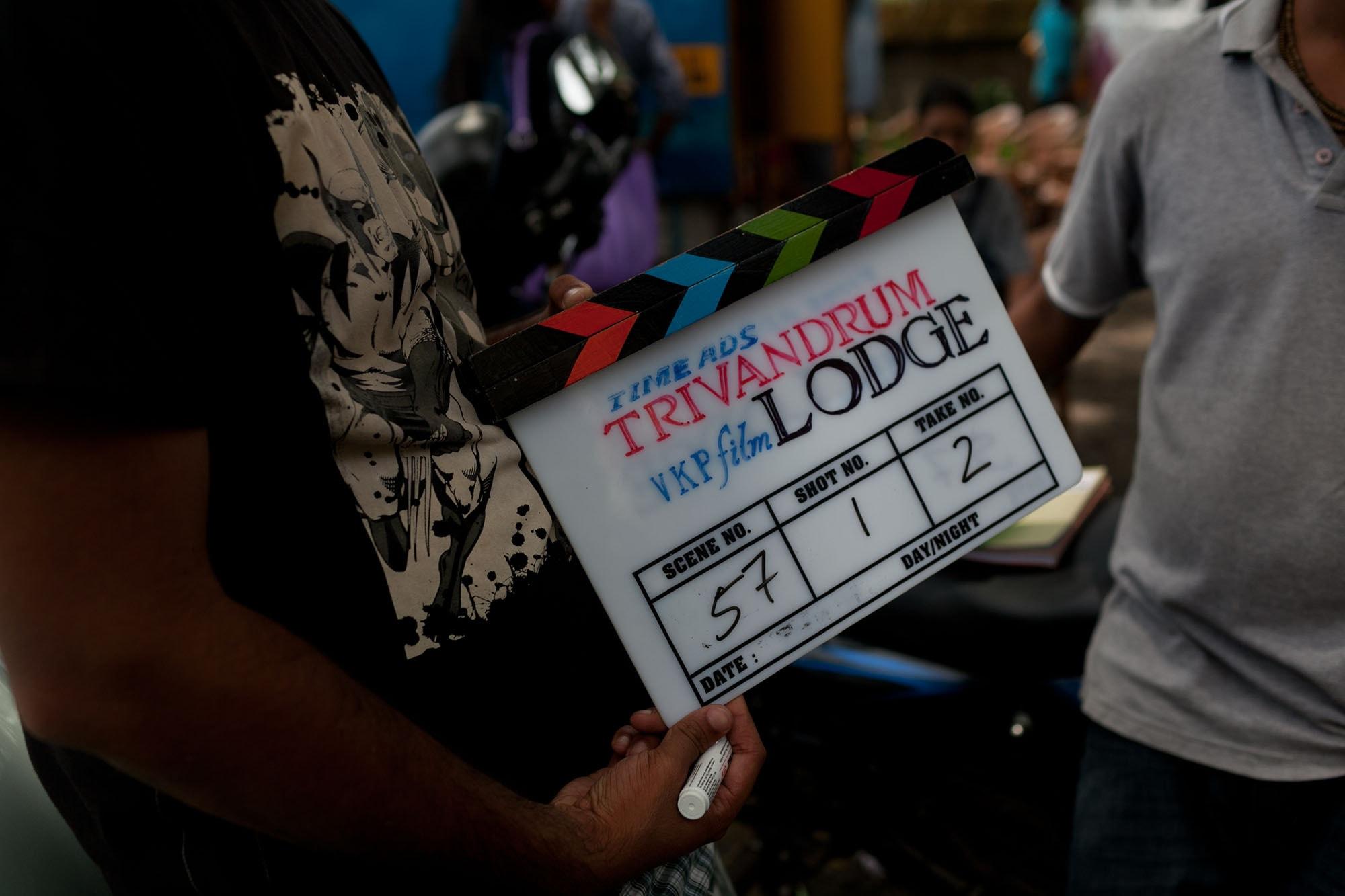 Filming a movie in Kochi, India (Cochin) in Kerala.